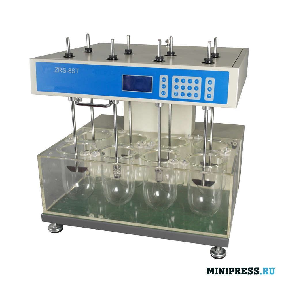Анализатор растворения используется для измерения скорости и степени растворения таблеток, капсул