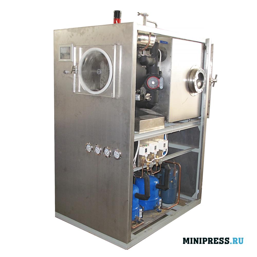 Промышленная вакуумная сублимационная лиофильная сушка площадью 0,54 м2 весом 800 кг