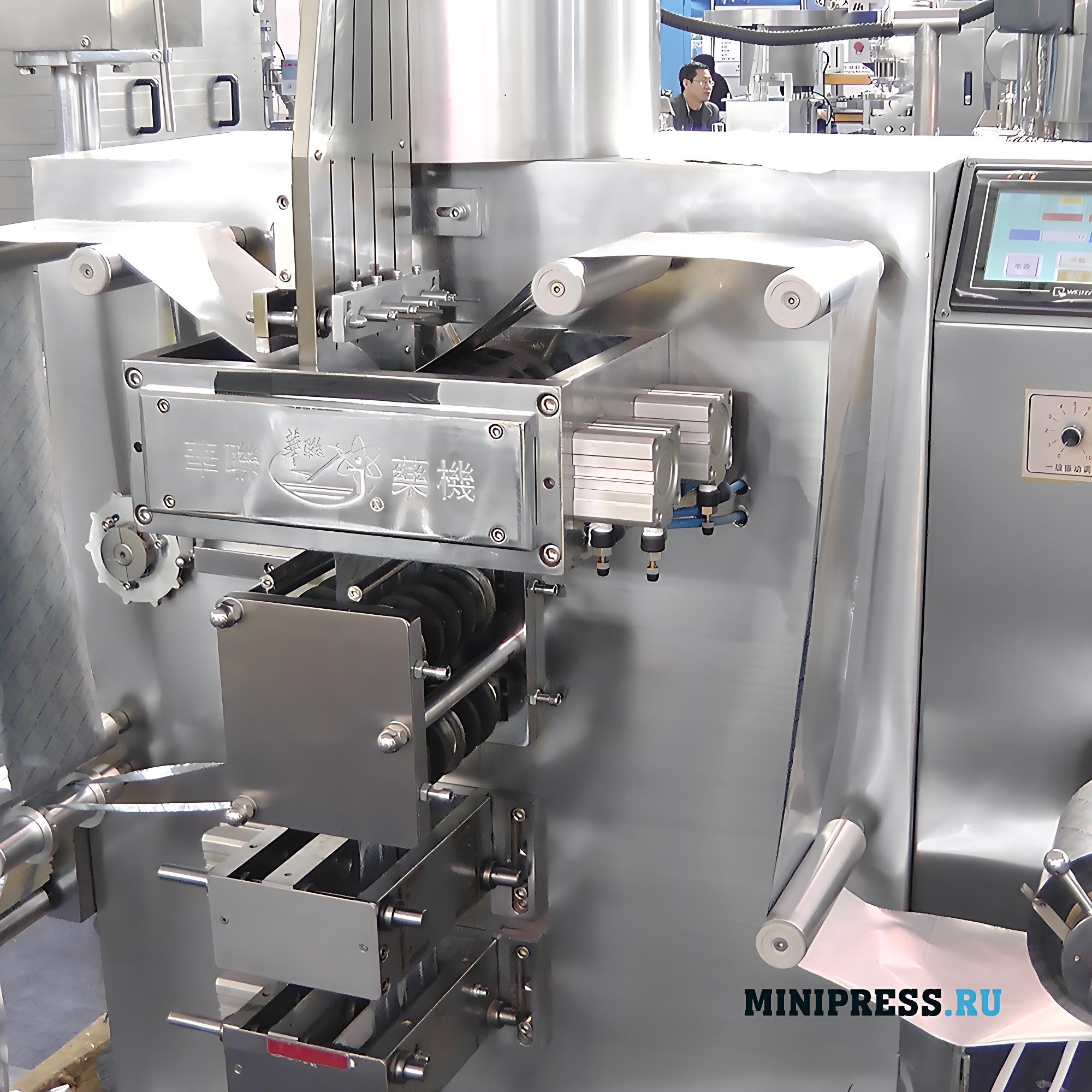 Оборудование для групповой упаковки таблеток в алюминиевую фольгу в фармацевтической промышленности