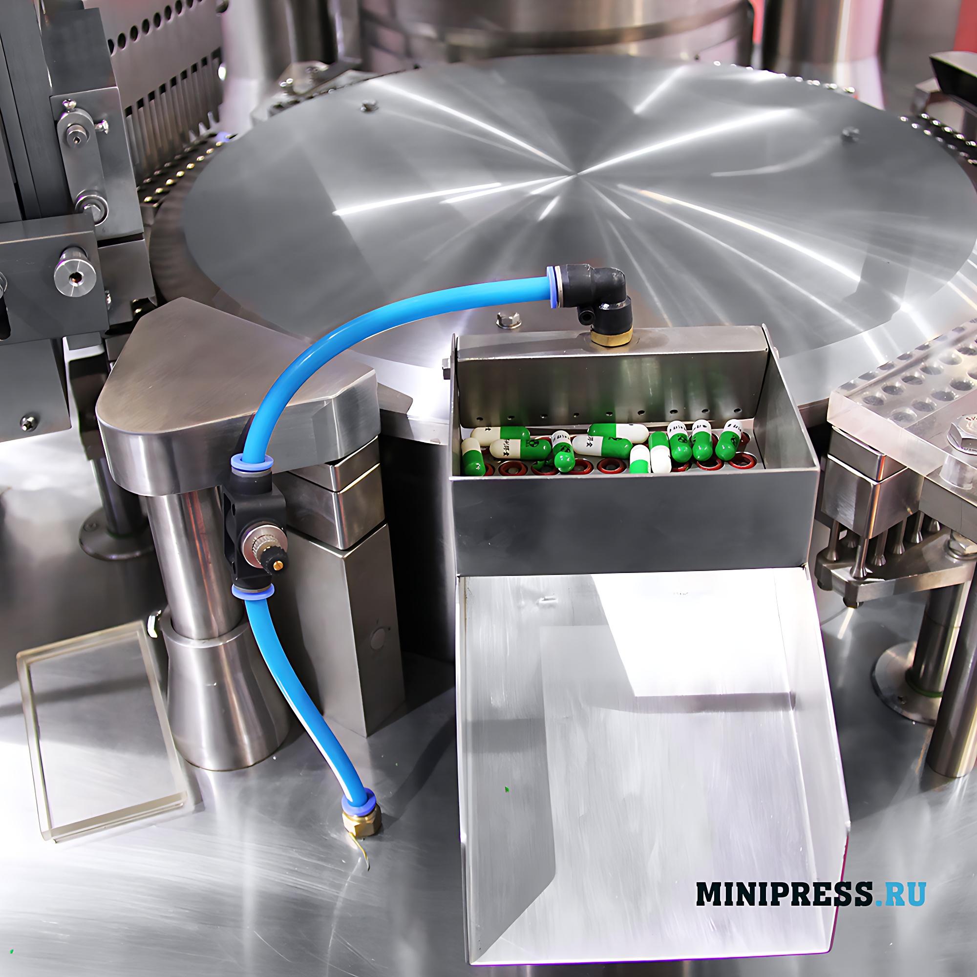 Автоматическая машина для наполнения порошком твердых желатиновых капсул