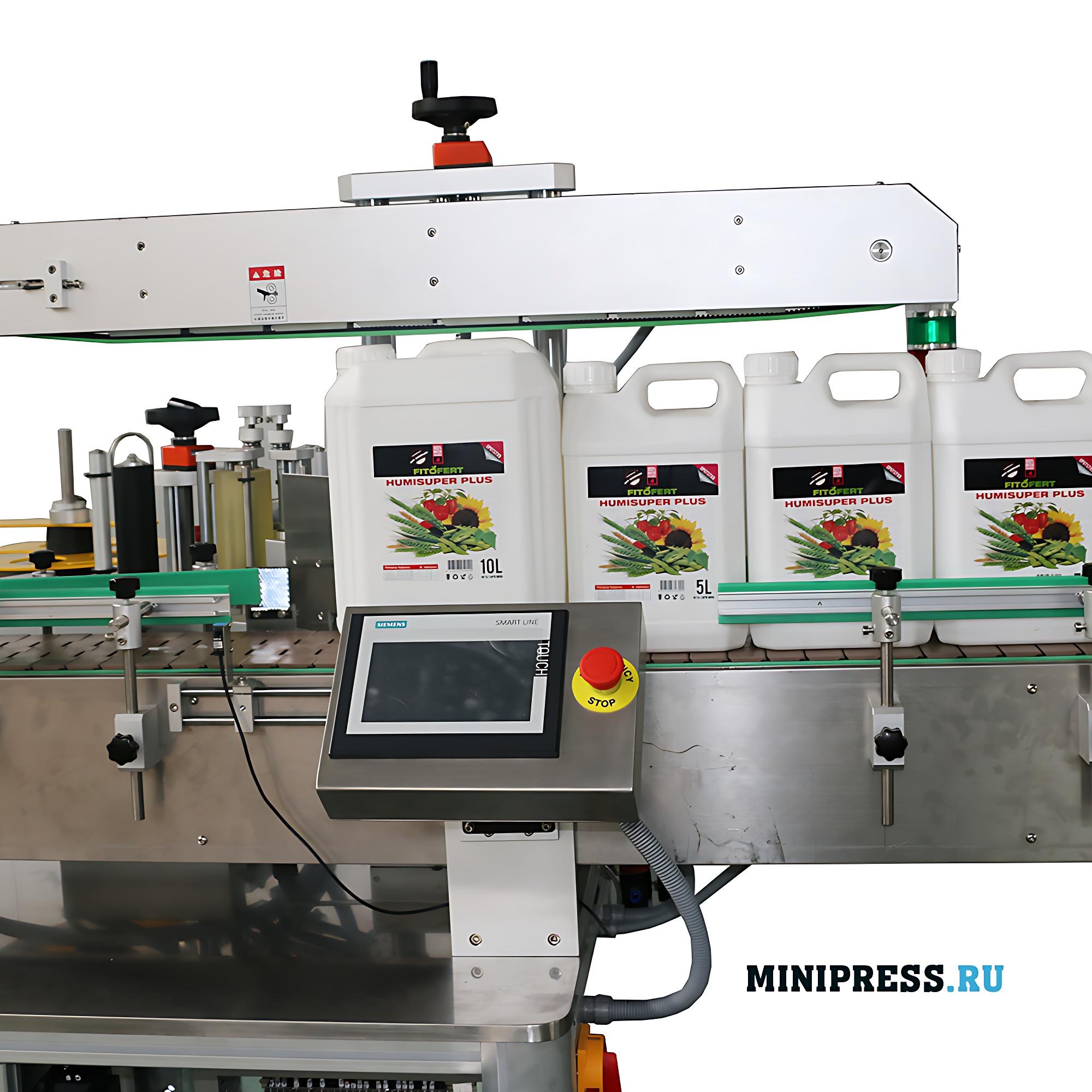 Автоматическая машина для наклейки самоклеящихся этикеток