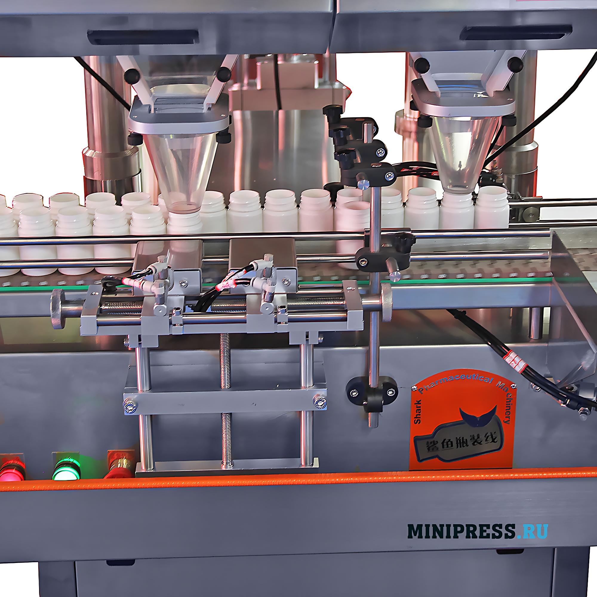 Автоматическая машина с вибрационной системой для счета и фасовки таблеток и капсул