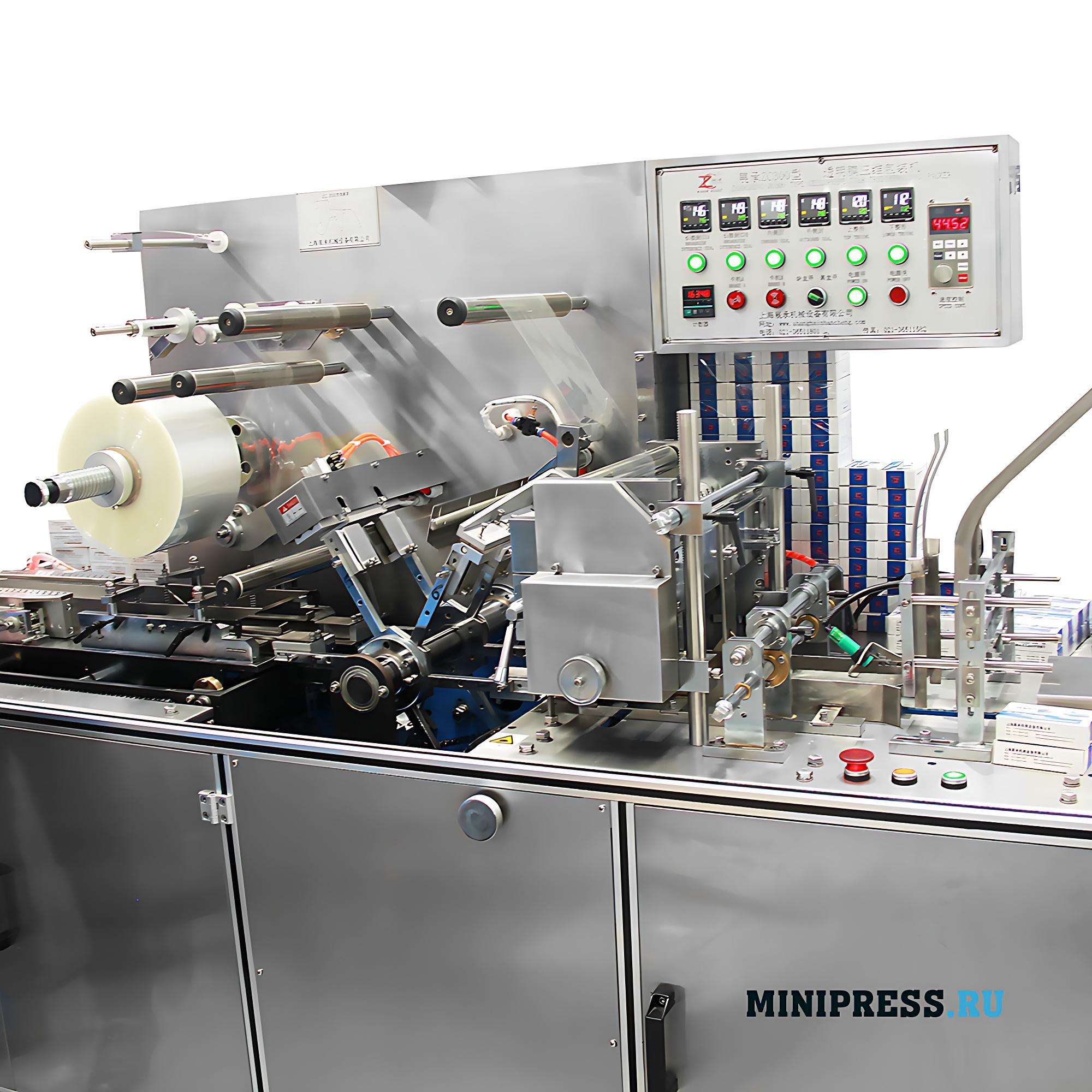 Автоматическая машина для индивидуального обертывания целлофаном