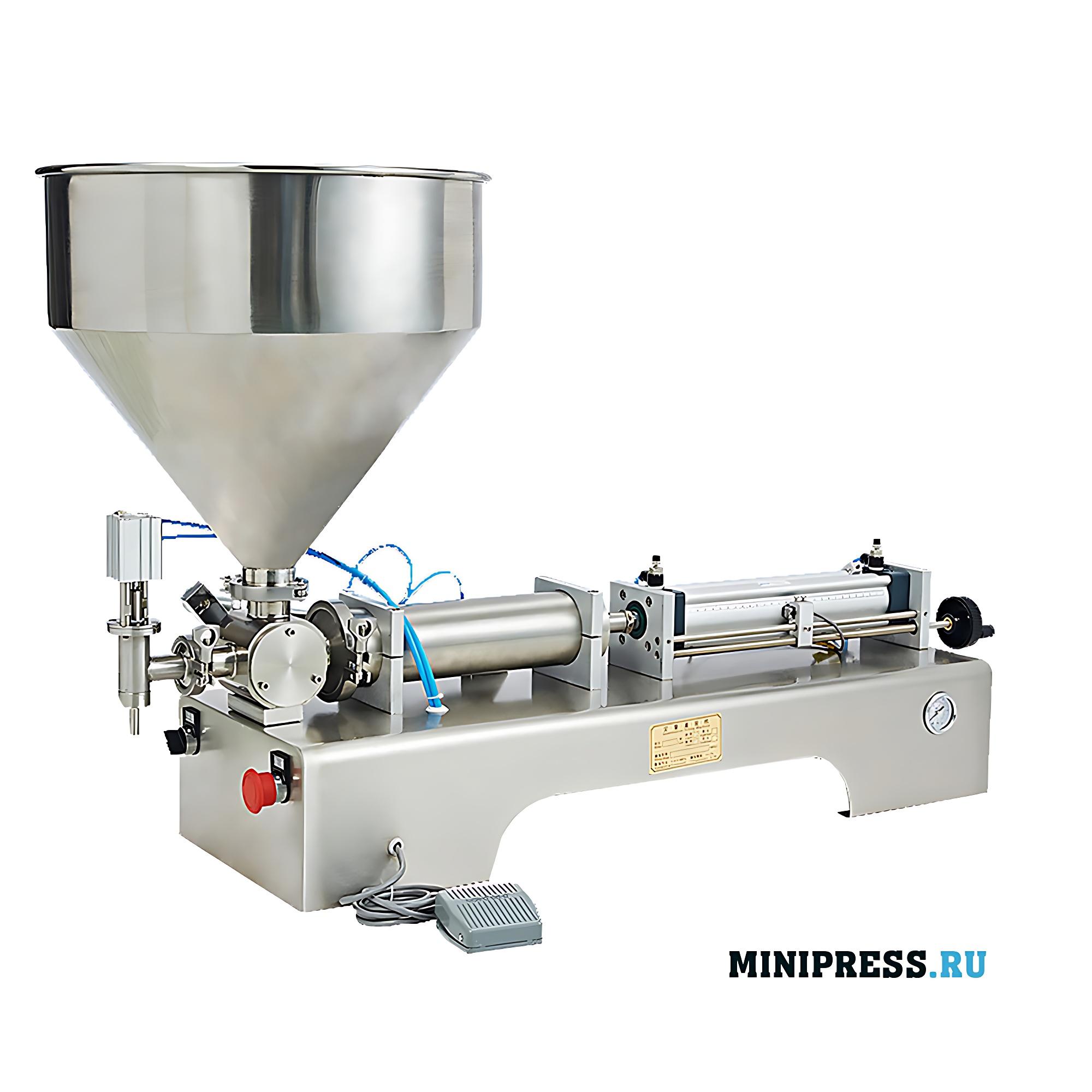 Оборудование для дозирования крема, гелей и мазей в флаконы