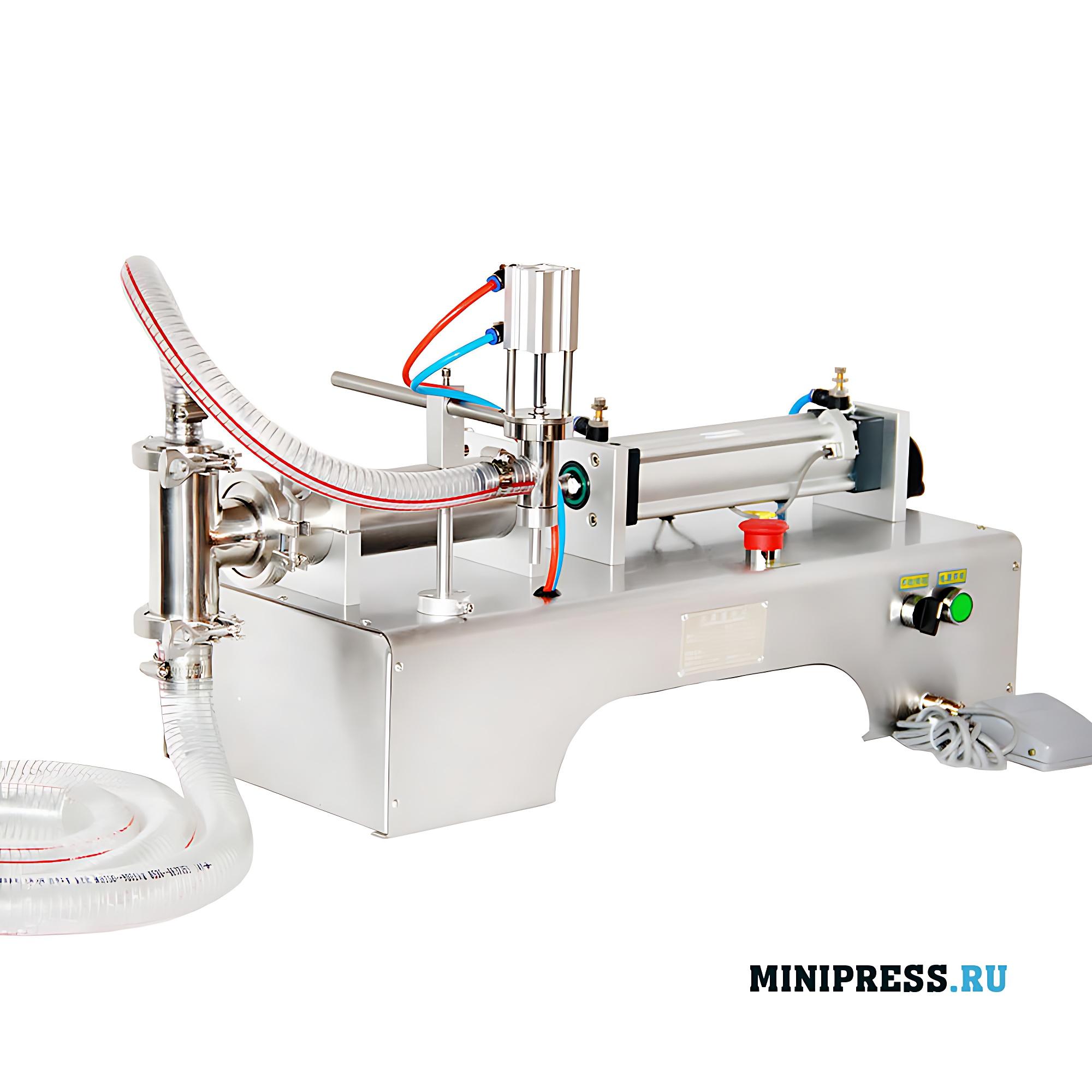Настольная полуавтоматическая машинка для розлива жидкостей в бутылки