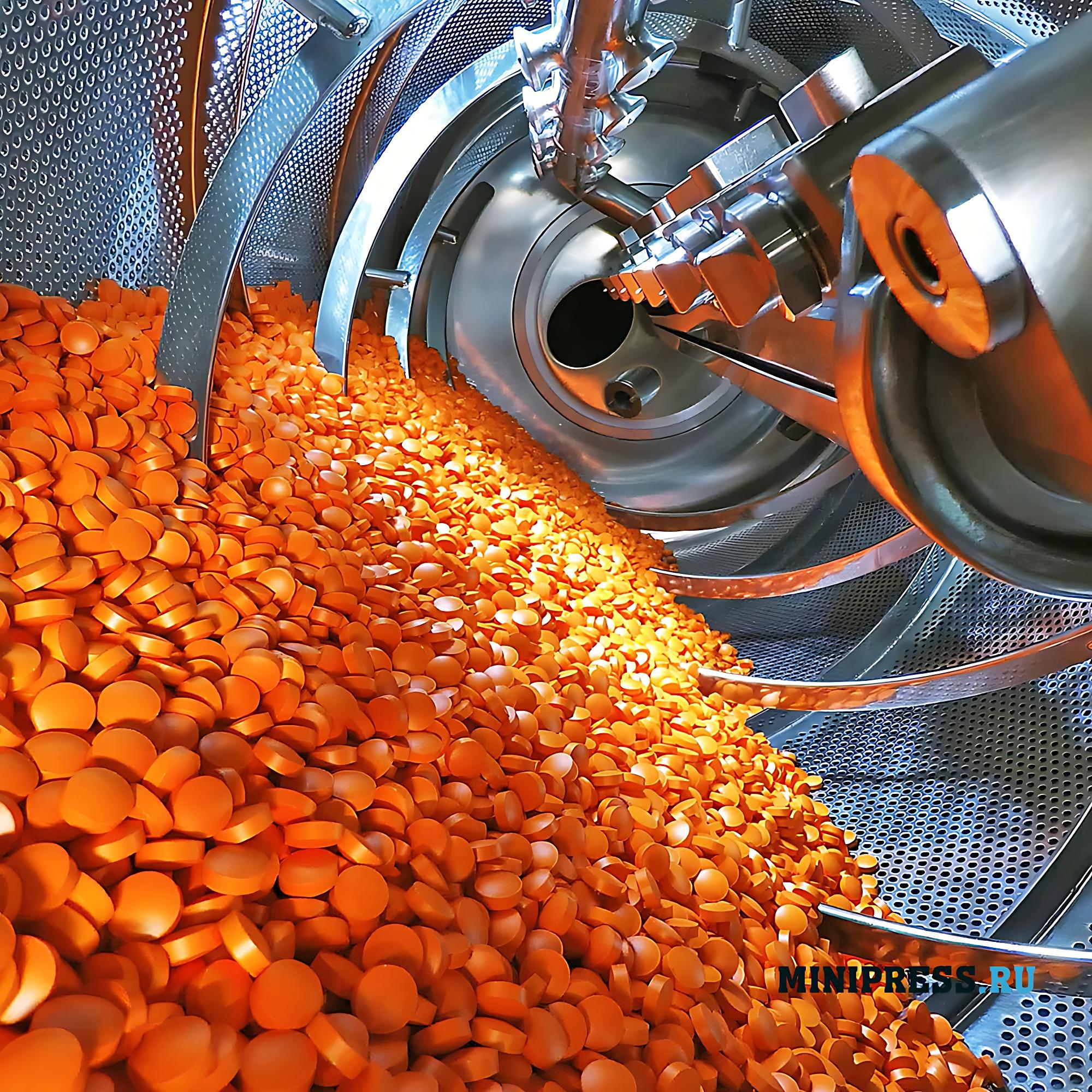 Машина для изготовления драже и покрытия таблеток оболочкой из полимерных материалов