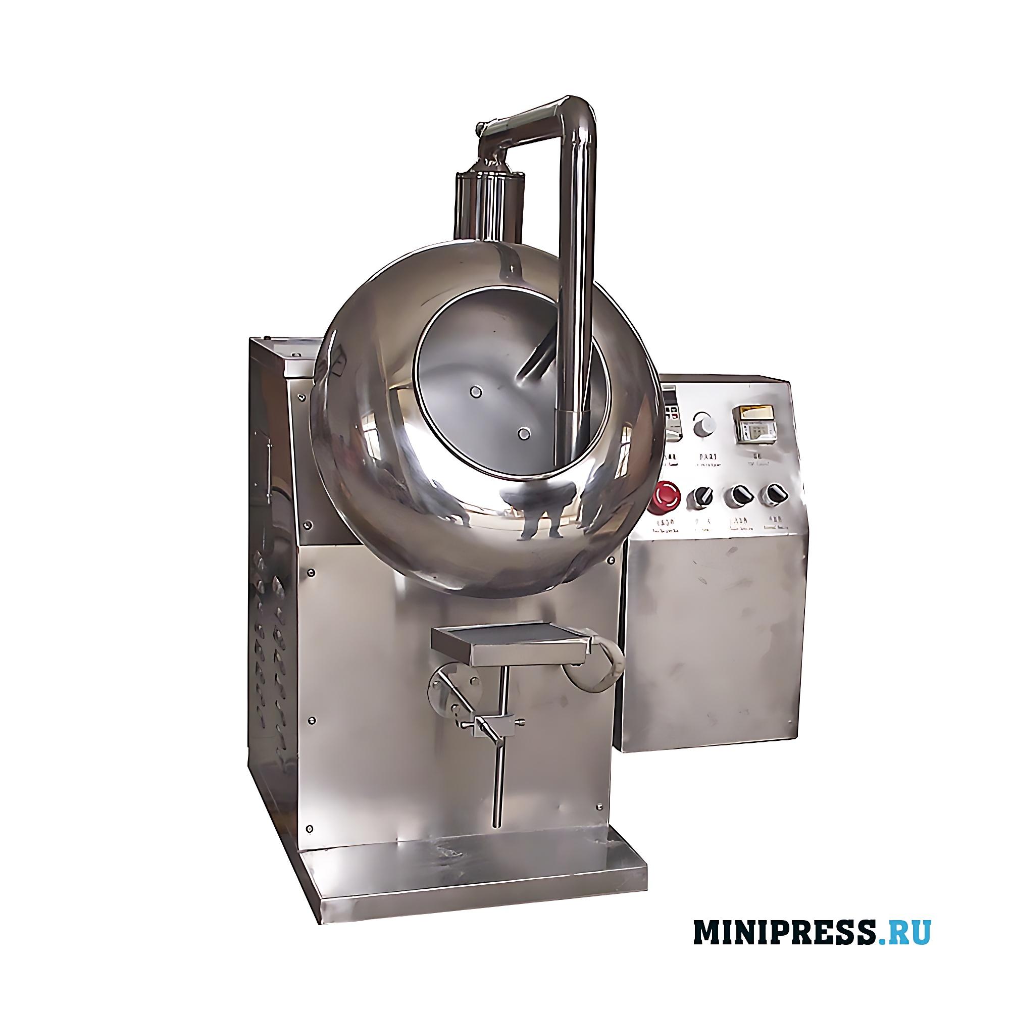 Дражировочный котел используется для нанесения полированных органических оболочек