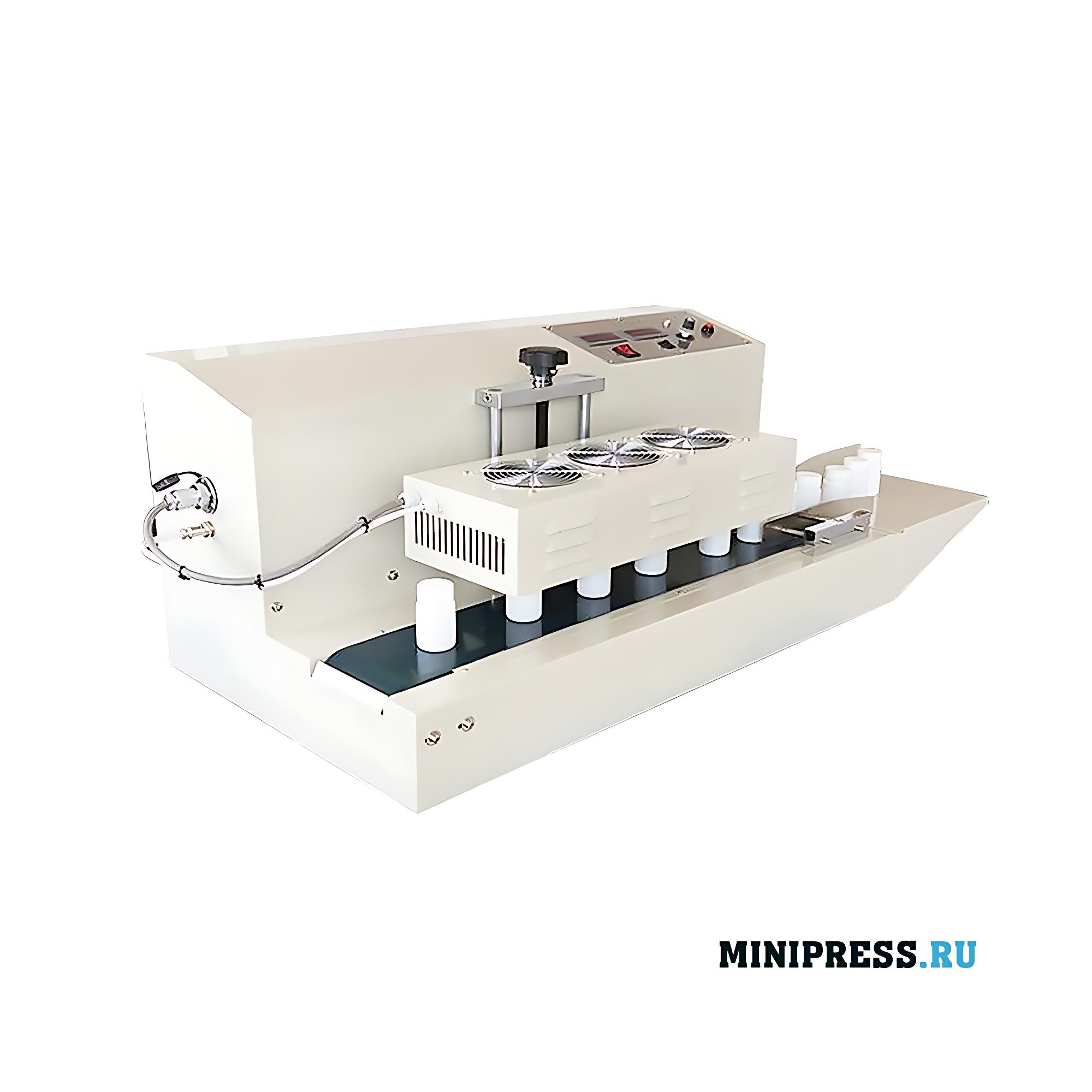 Настольная машина индукционной приварки алюминиевой мембраны защиты первого вскрытия крышек