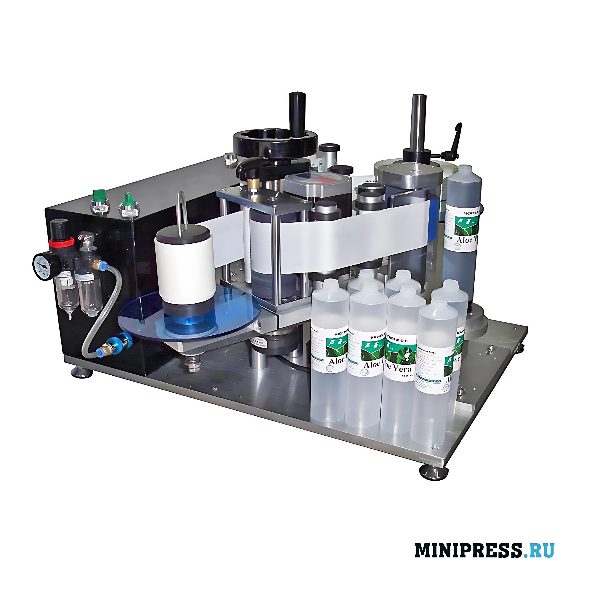 Оборудование для наклеивания этикеток на пустые пластиковые тубы