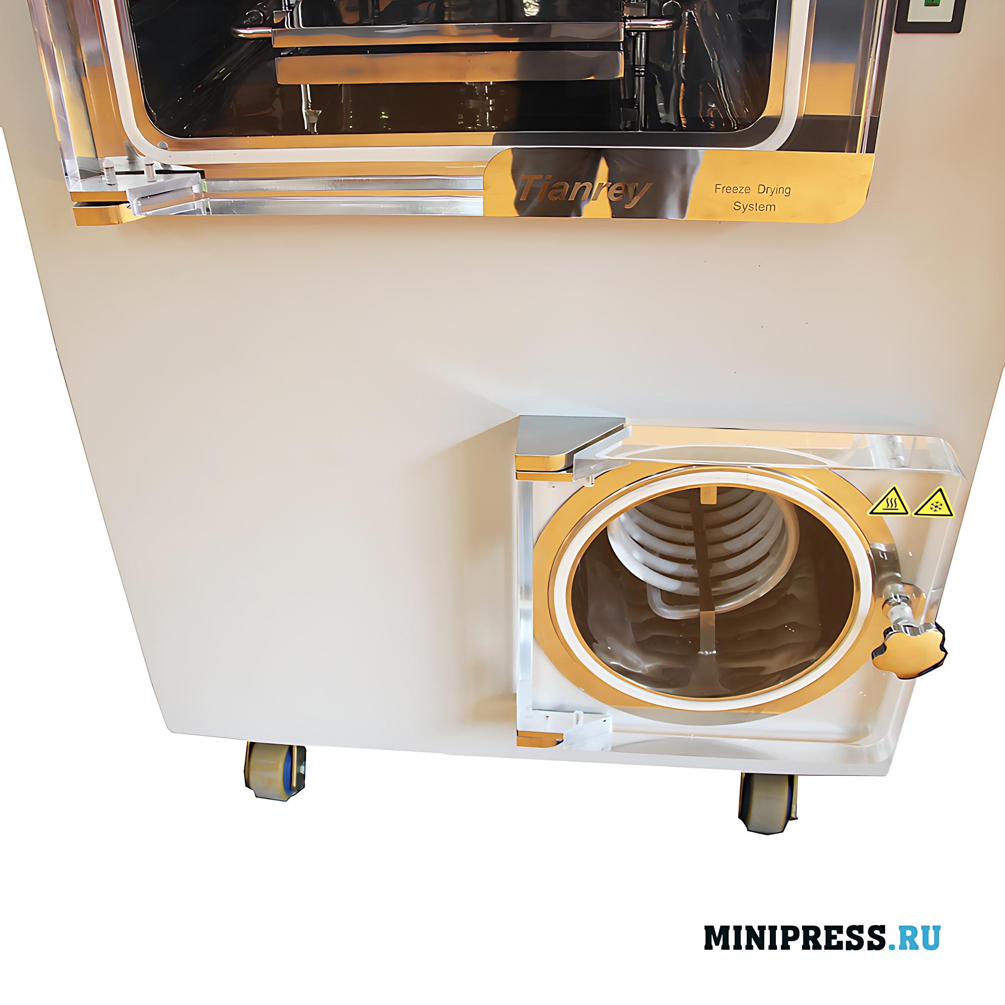 Промышленная вакуумная сублимационная лиофильная сушка площадью 0,5 м2