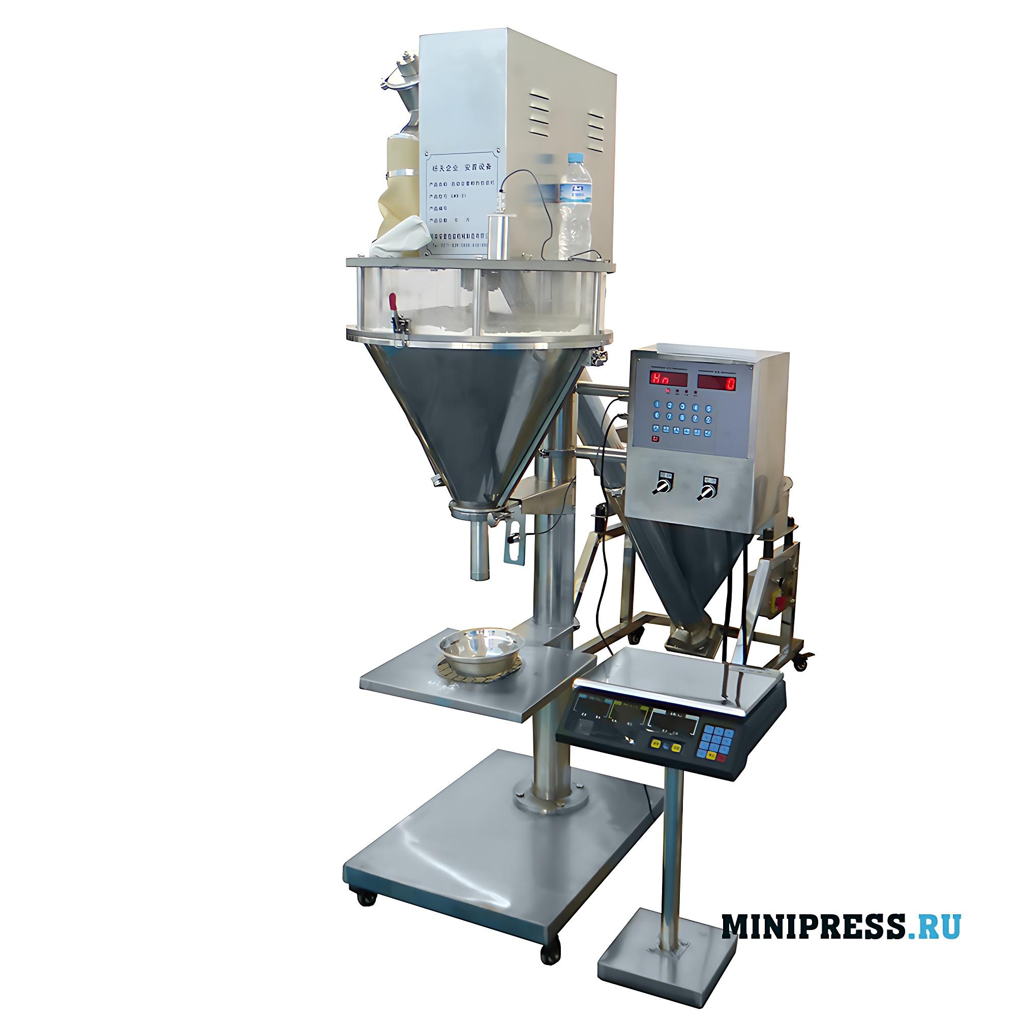 Полуавтоматическая дозирующая машина для шнековой подачи трудносыпучих порошков