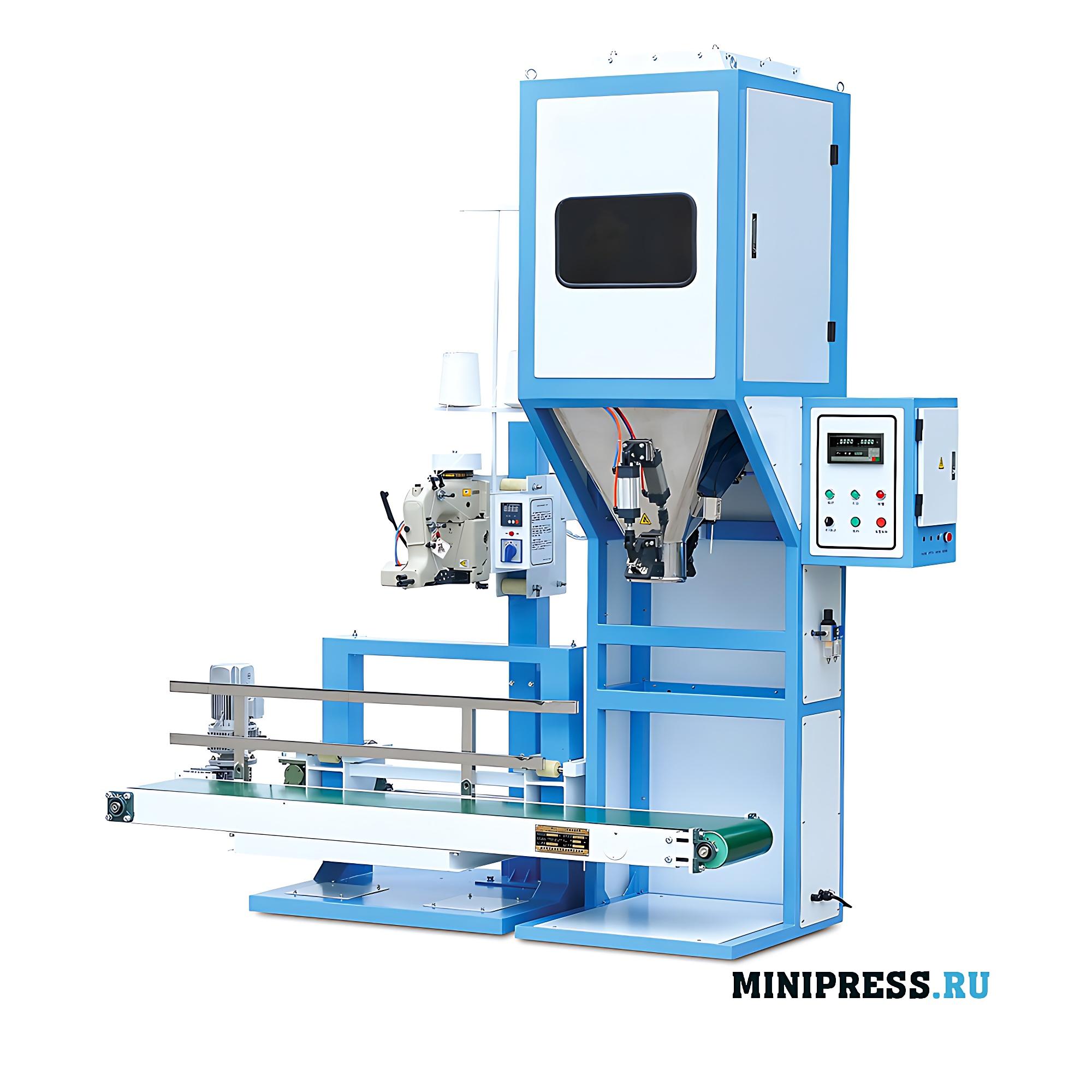 Оборудование для фасовки и упаковки в бумажные мешки любых продуктов
