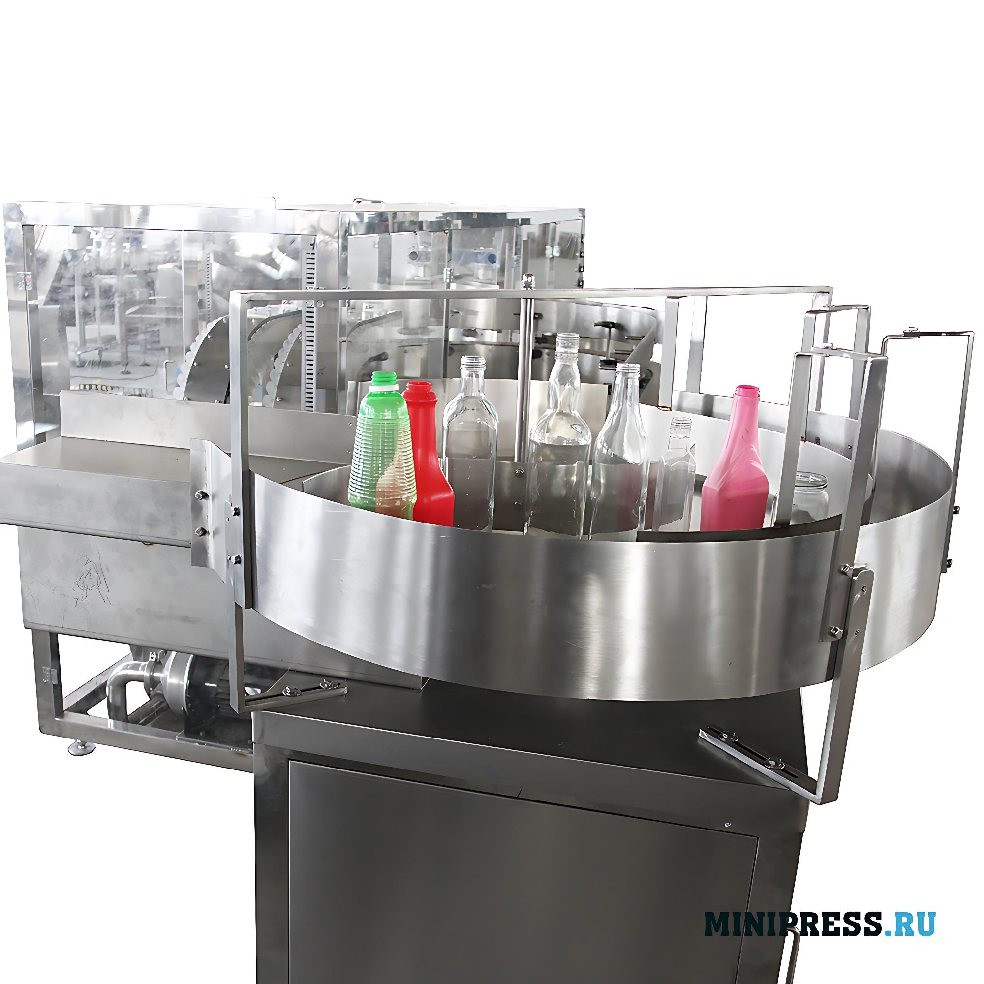 Автоматическое оборудование для мойки пластиковых и стеклянных флаконов и бутылок