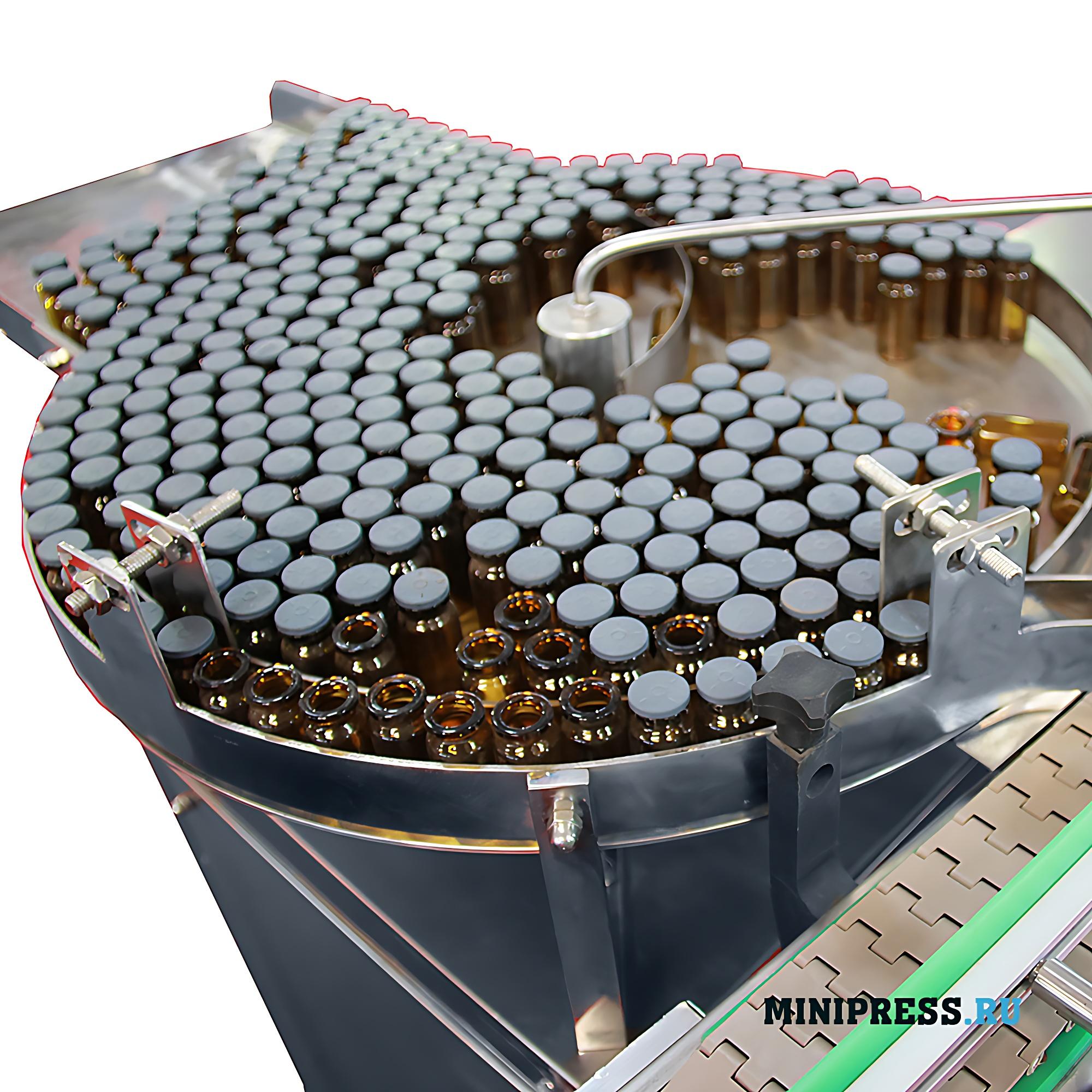 Оборудования для завальцовки алюминиевых колпачков на флаконах