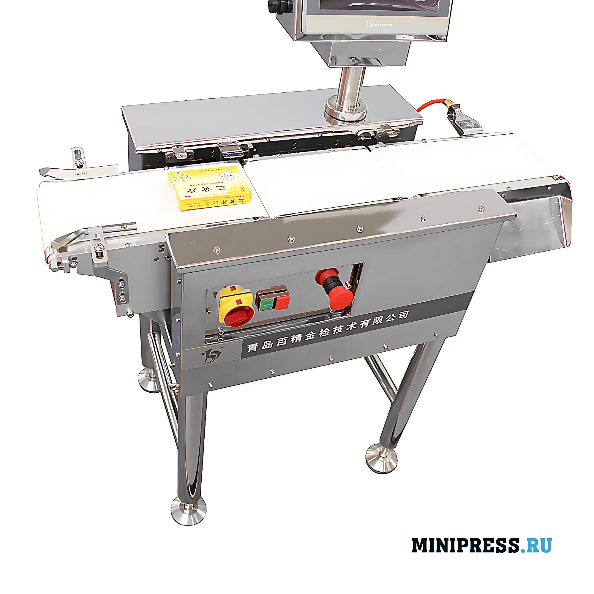 Высокоточная весовая машина контроля продукции встраиваемая в транспортерную ленту