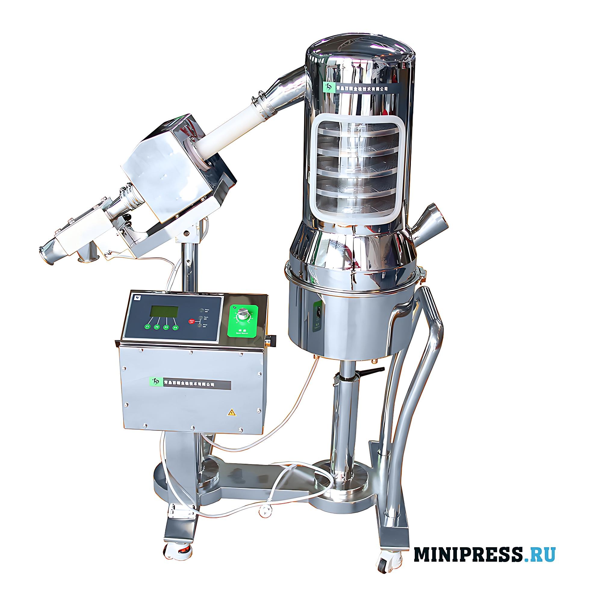Оборудование для удаления пыли и подачи таблеток с проверкой на металлодетекторе