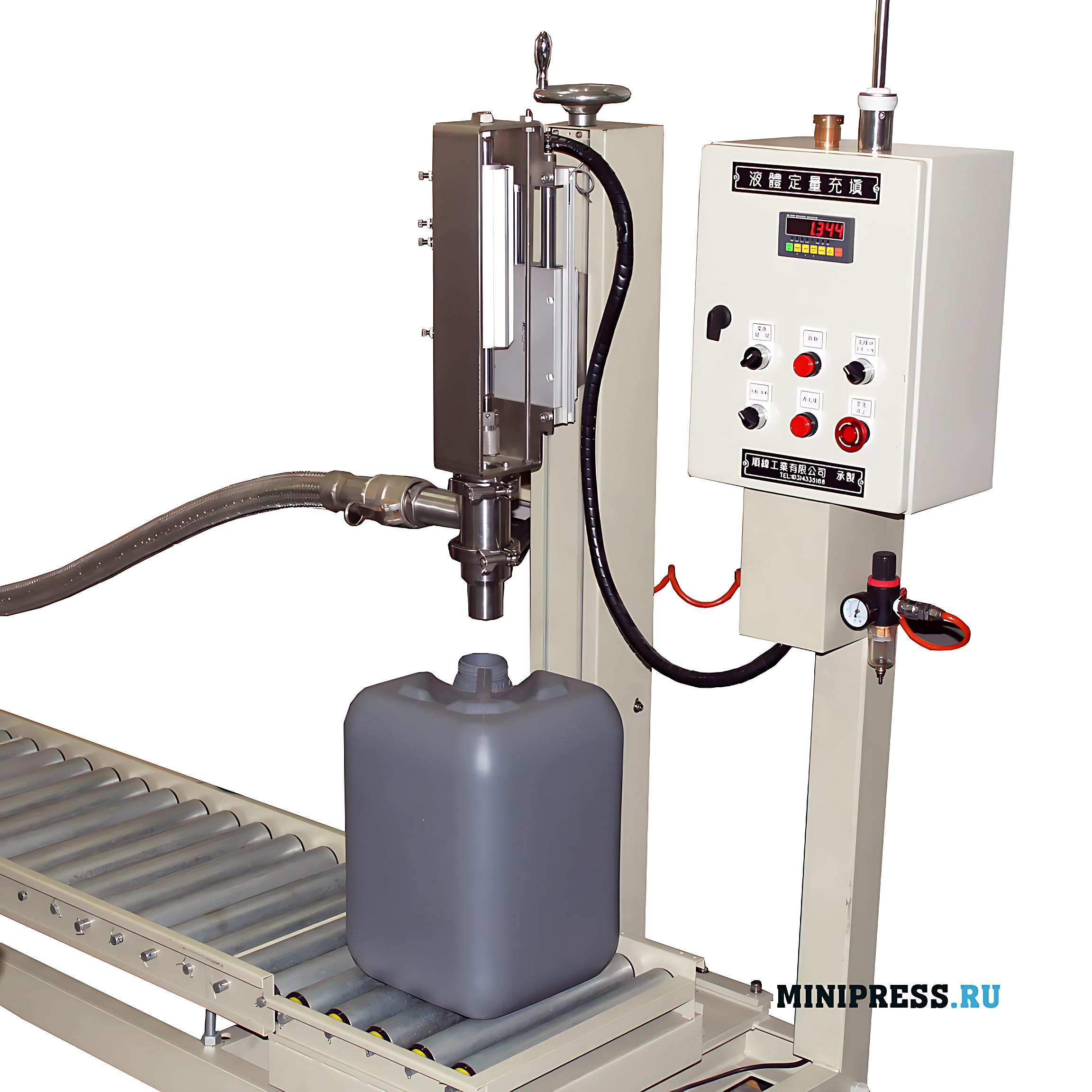Оборудование для розлива химических веществ, красок и лаков и нефтепродуктов