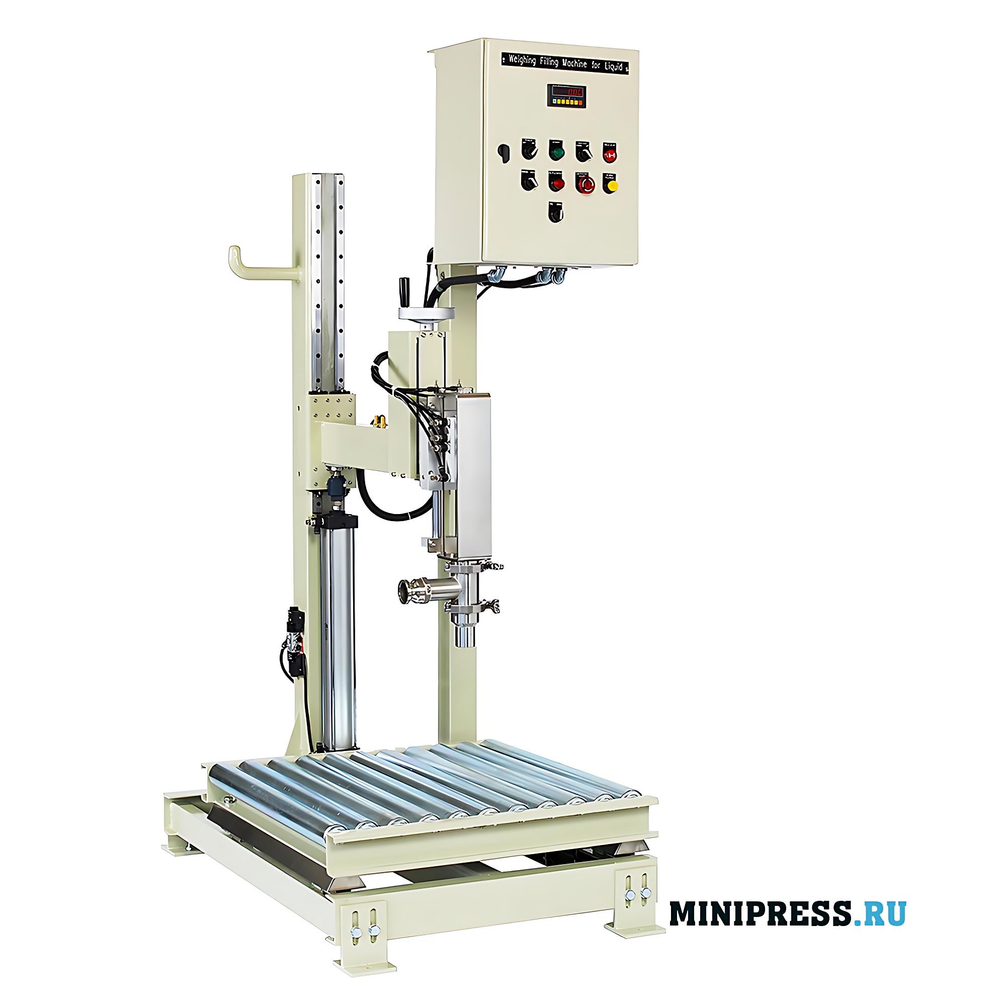 Полуавтоматическое оборудование для розлива в стальные 200 литровые бочки