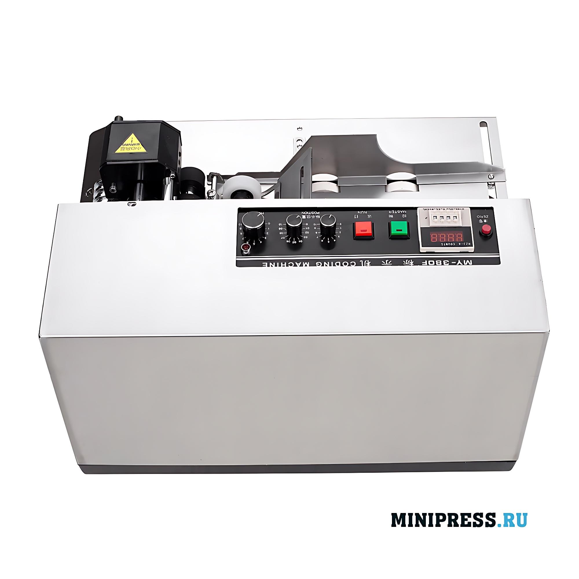 Оборудование для маркировки упаковки сроком годности и номером партии