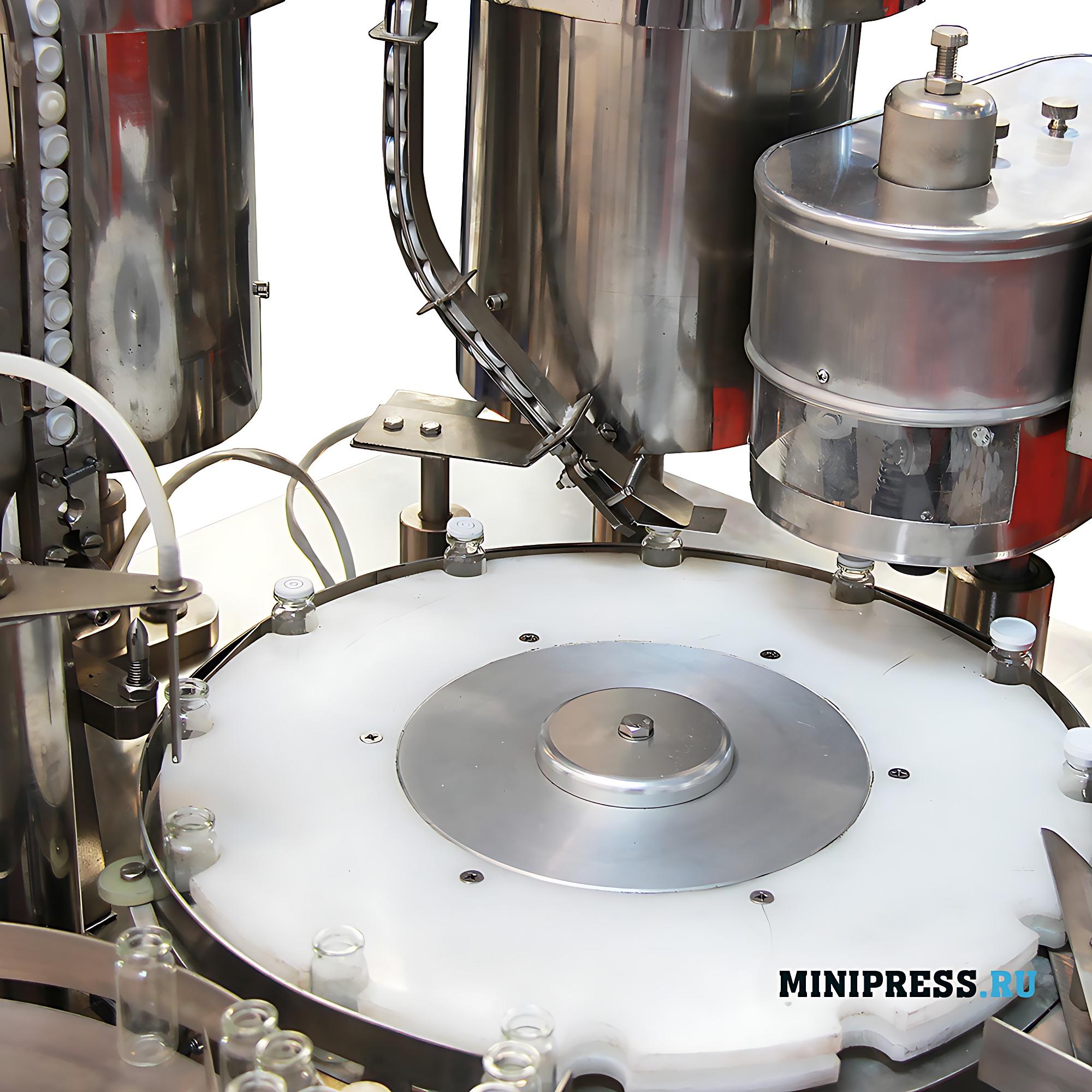 Автоматическое оборудование для розлива жидкостей в пенициллиновые флаконы