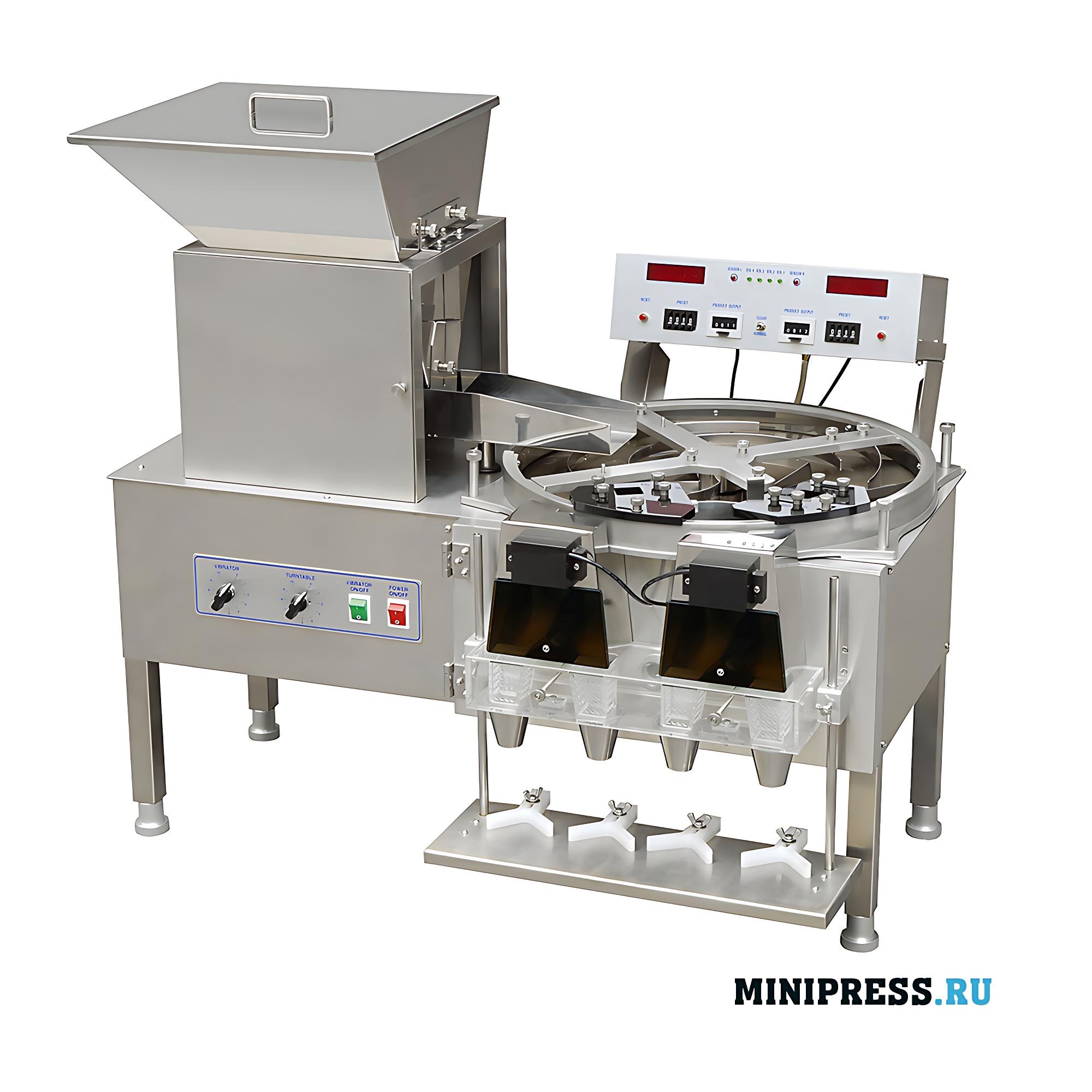 Фармацевтическое оборудование для счета и фасовки желатиновых капсул и таблеток