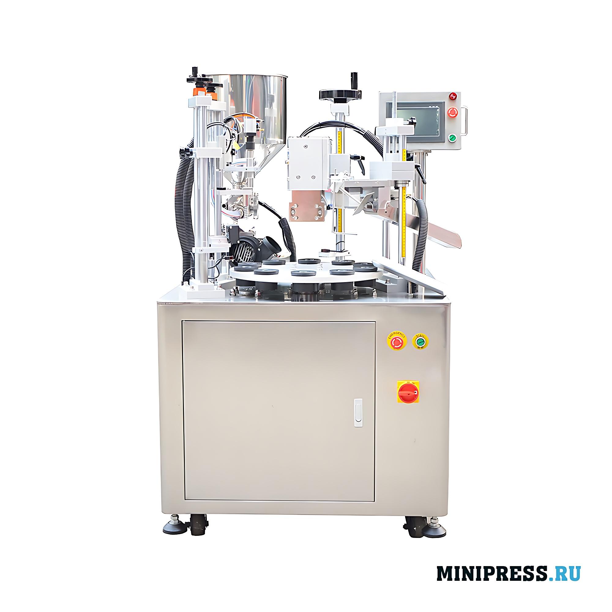 Оборудование по наполнению пластиковых туб и ультразвукового запечатывания края