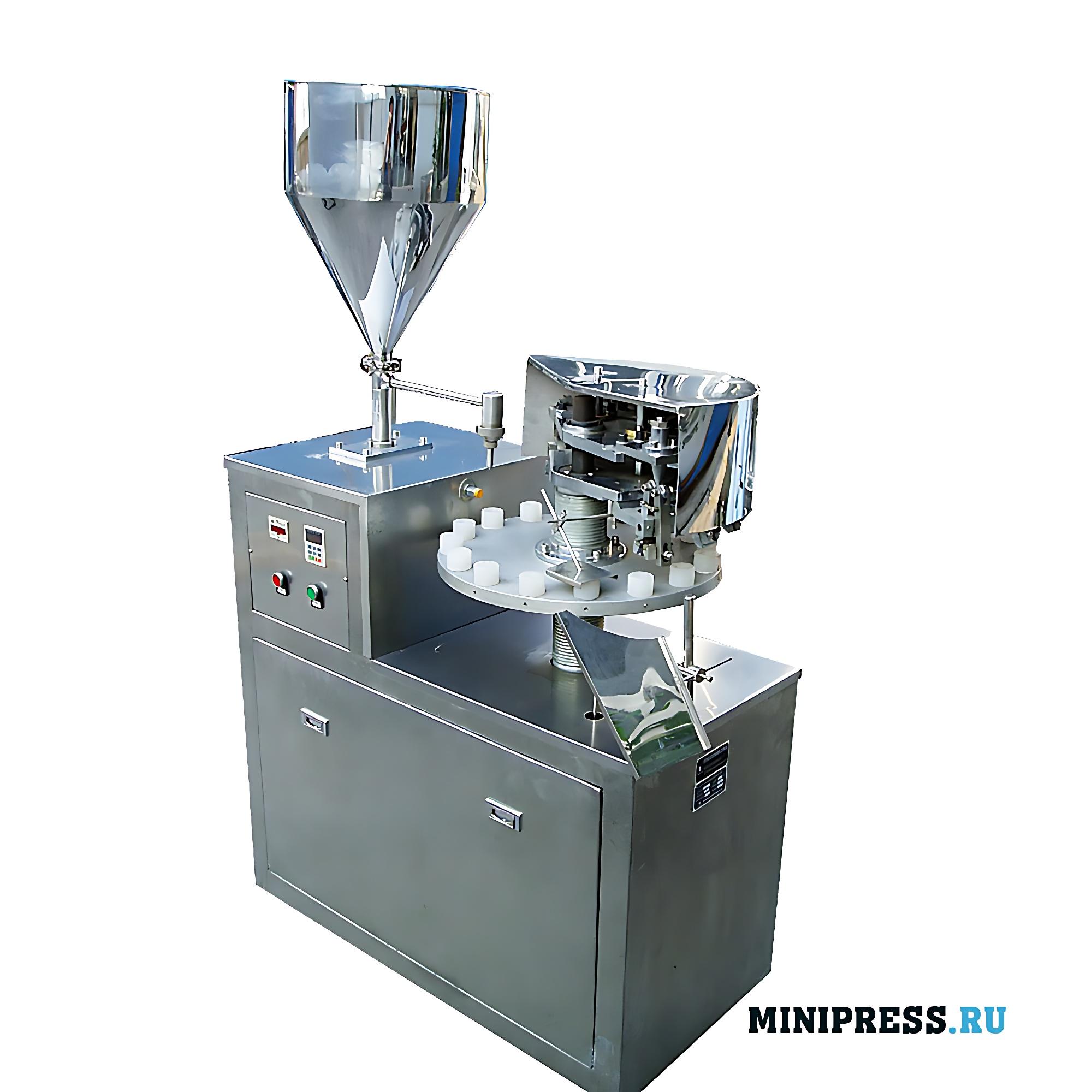 Полуавтоматическая механическая машина для фасовки клея в алюминиевые тубы