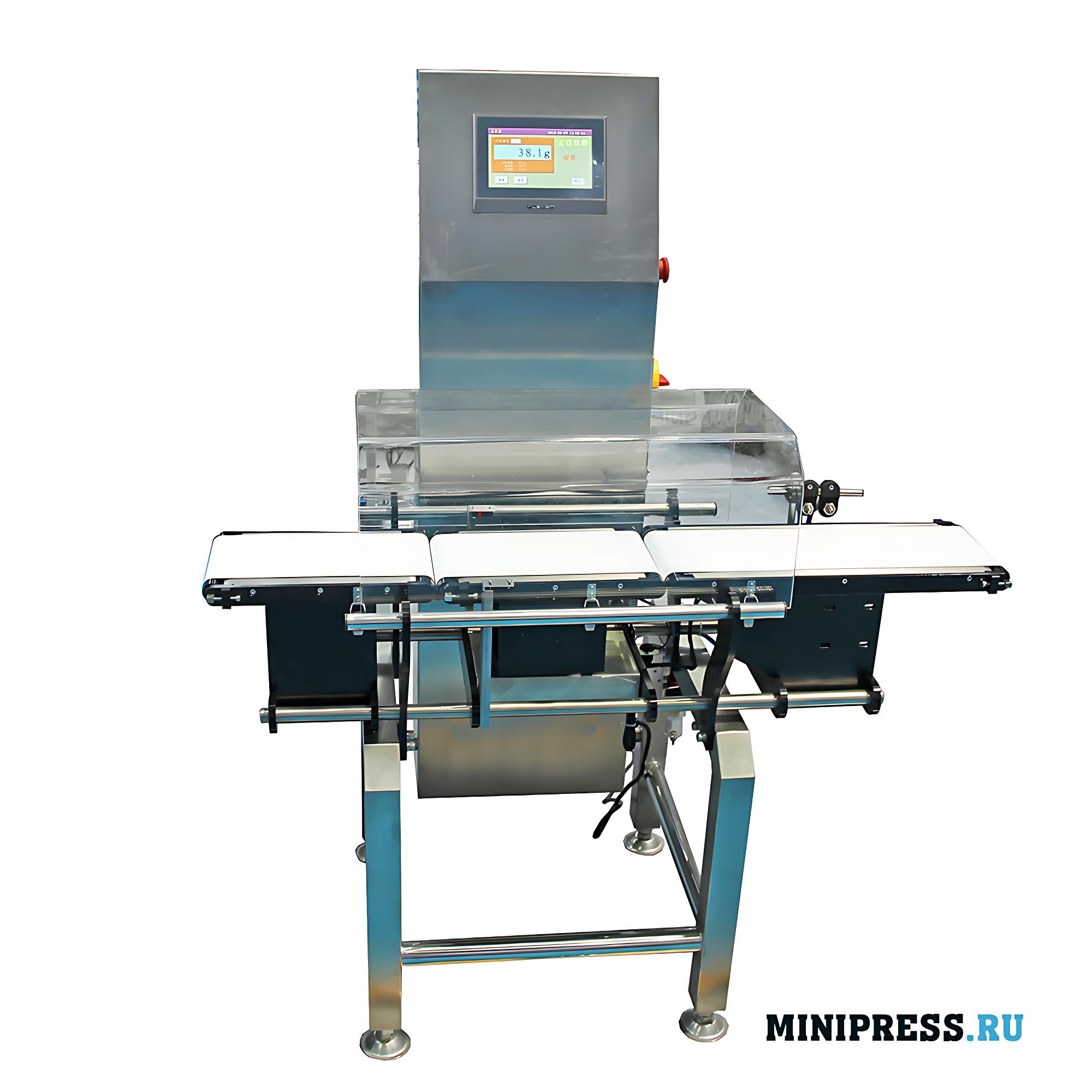 Оборудование для контроля веса товаров на конвейерной ленте