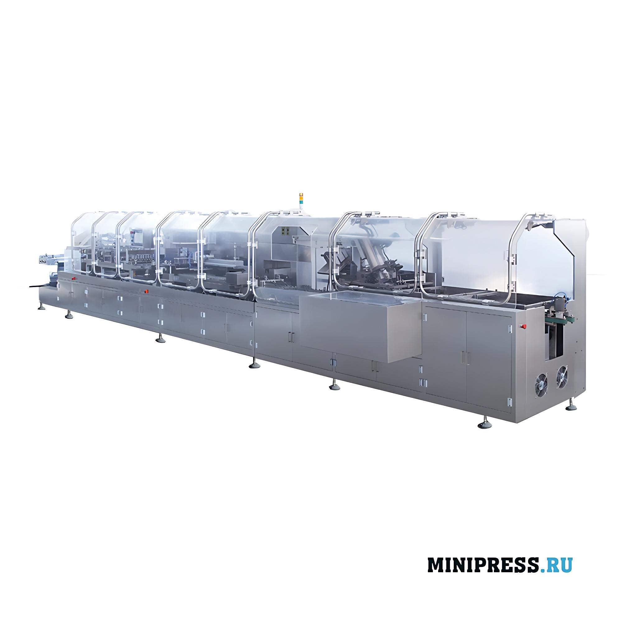Автоматическая производственная линия упаковки ампул/флаконов