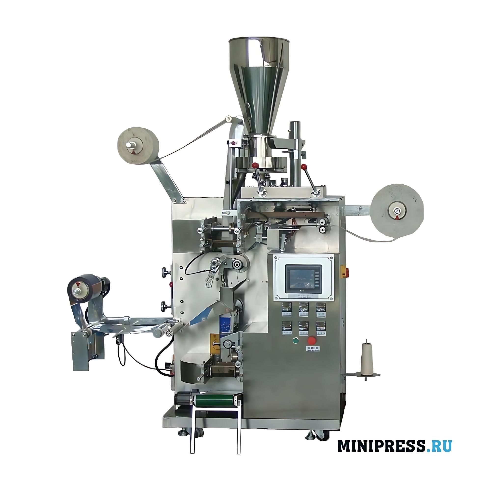 Автоматическое оборудование для фасовки чая и упаковки во внешний пакетик