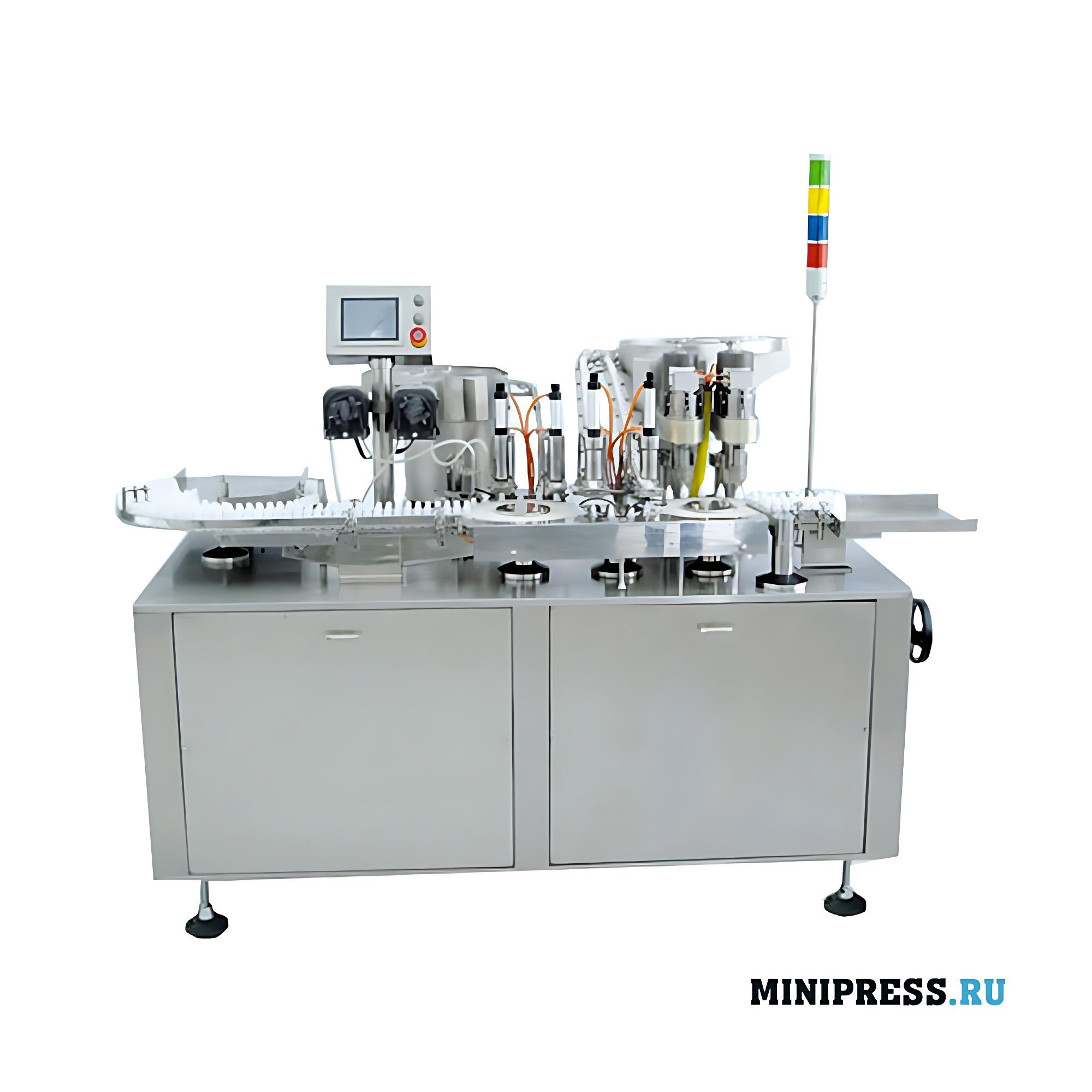 Автоматическое оборудование для розлива и запайки глазных капель в два ручья