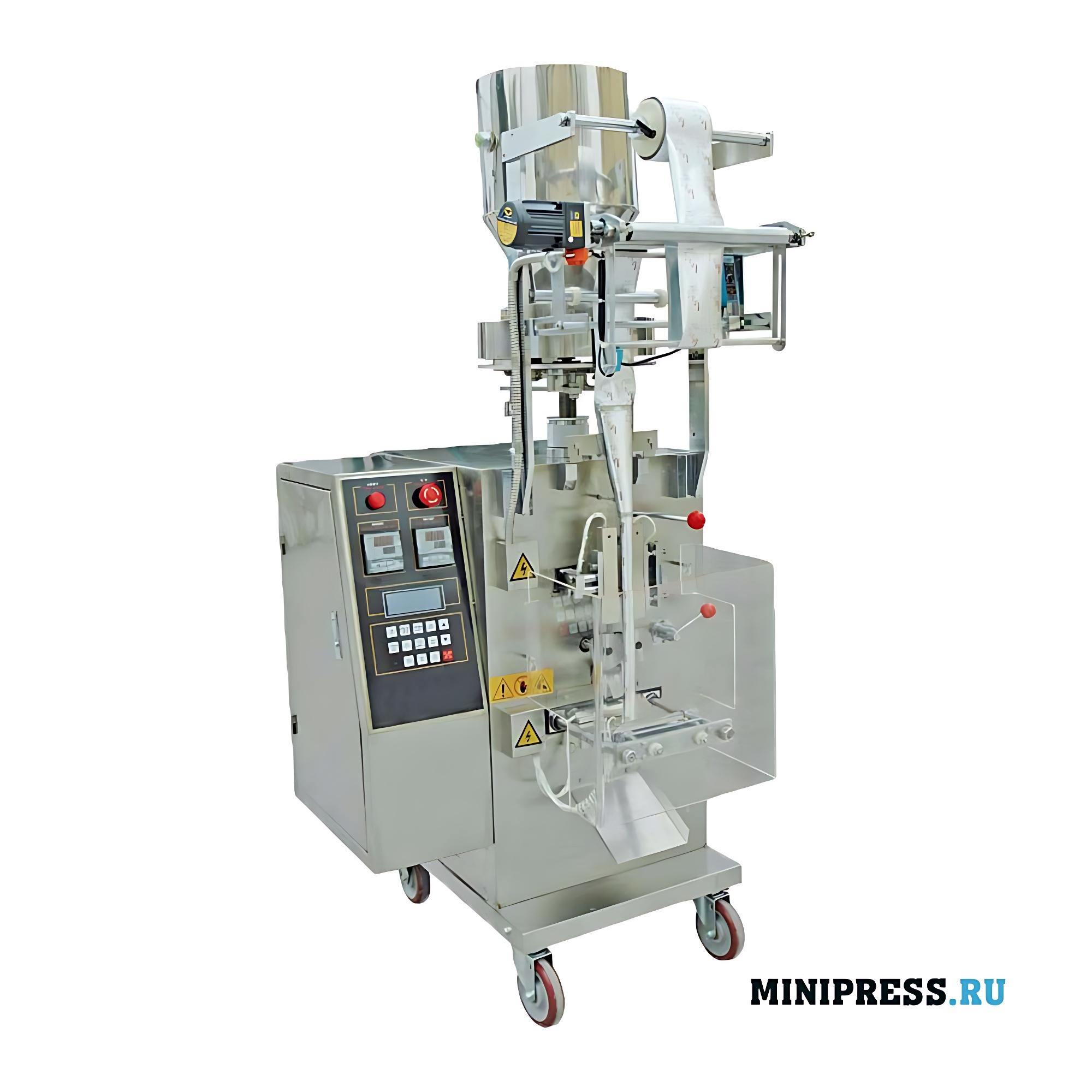 Автоматическое оборудование для упаковки и запечатывания пакетиков с гранулами
