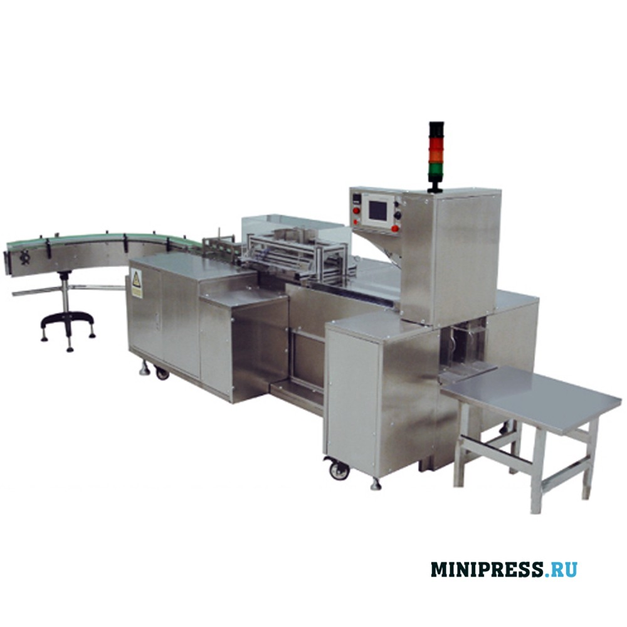 Горизонтальное высокоскоростное оборудование для обертывания целлофаном
