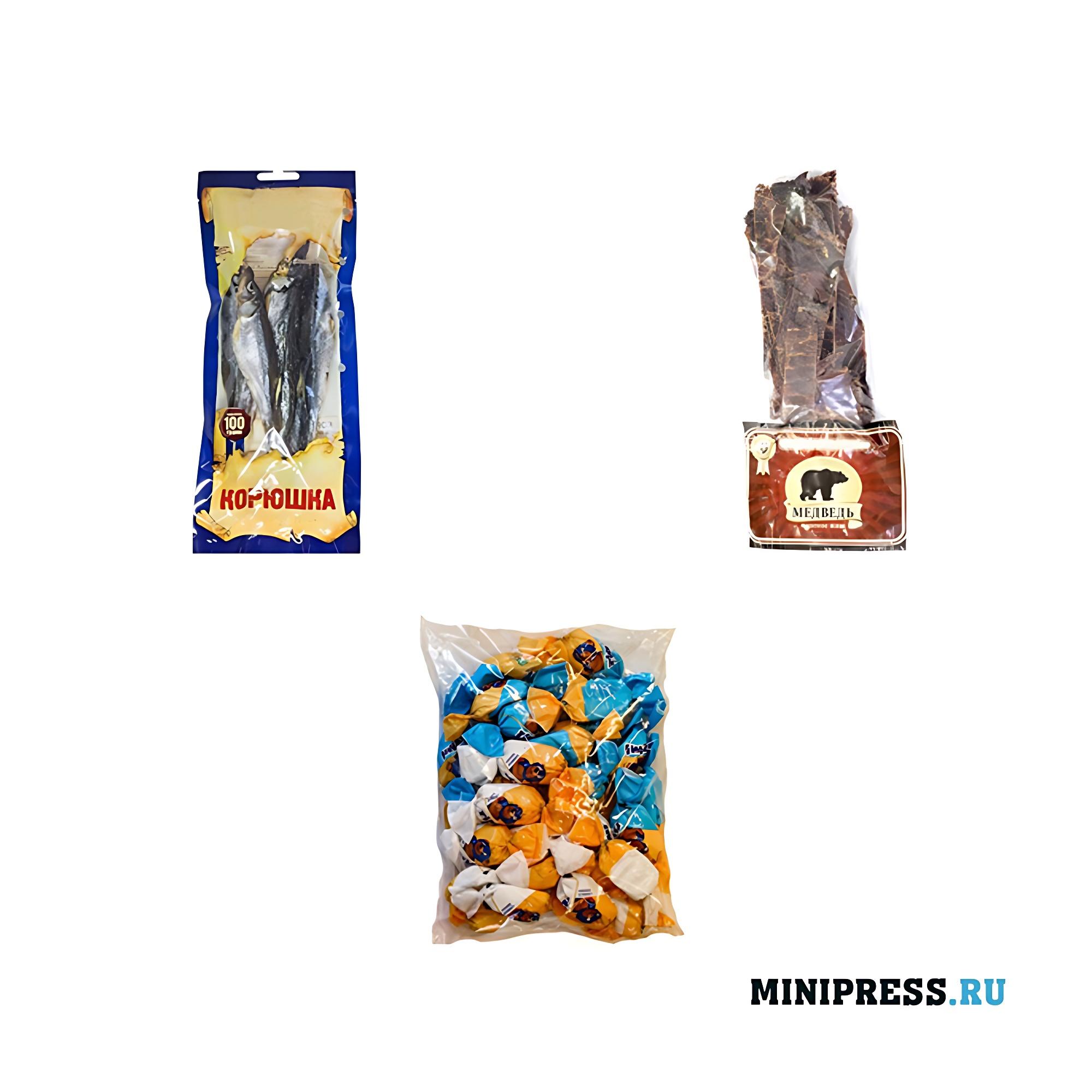 Упакованные продукты неправильной формы