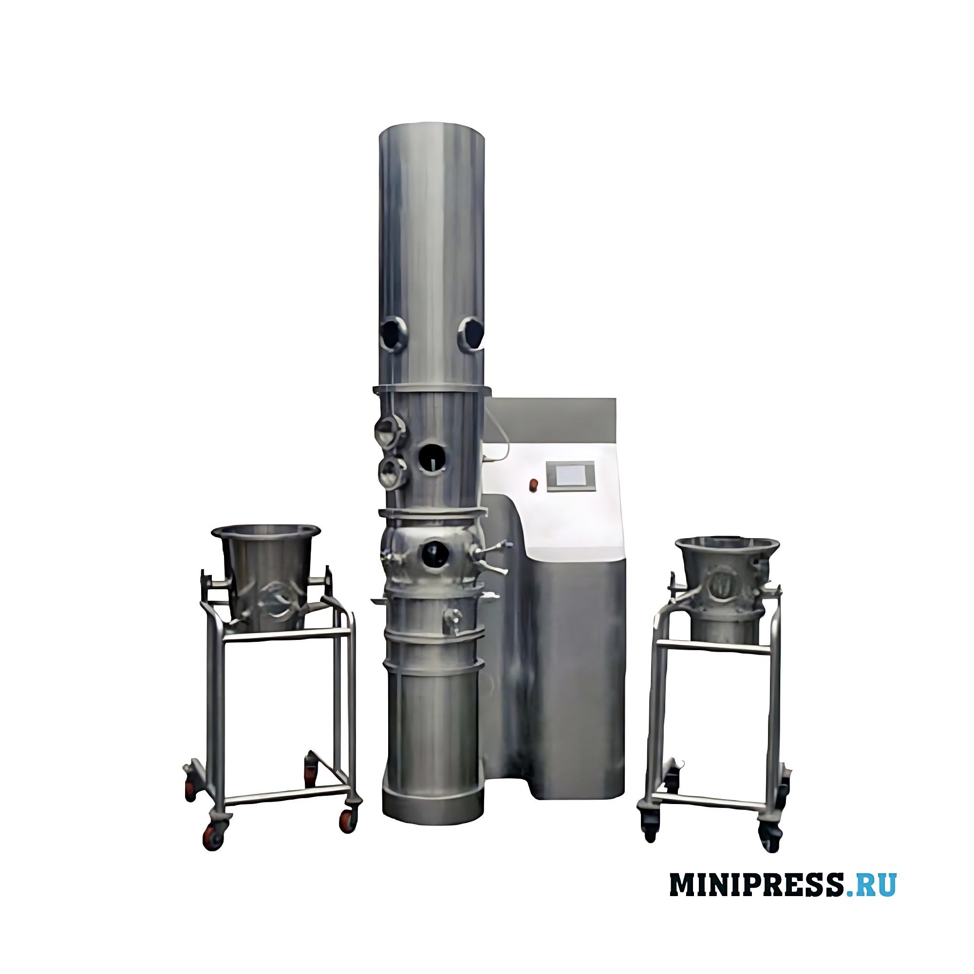 Лабораторное оборудование для нанесения покрытия на гранулы