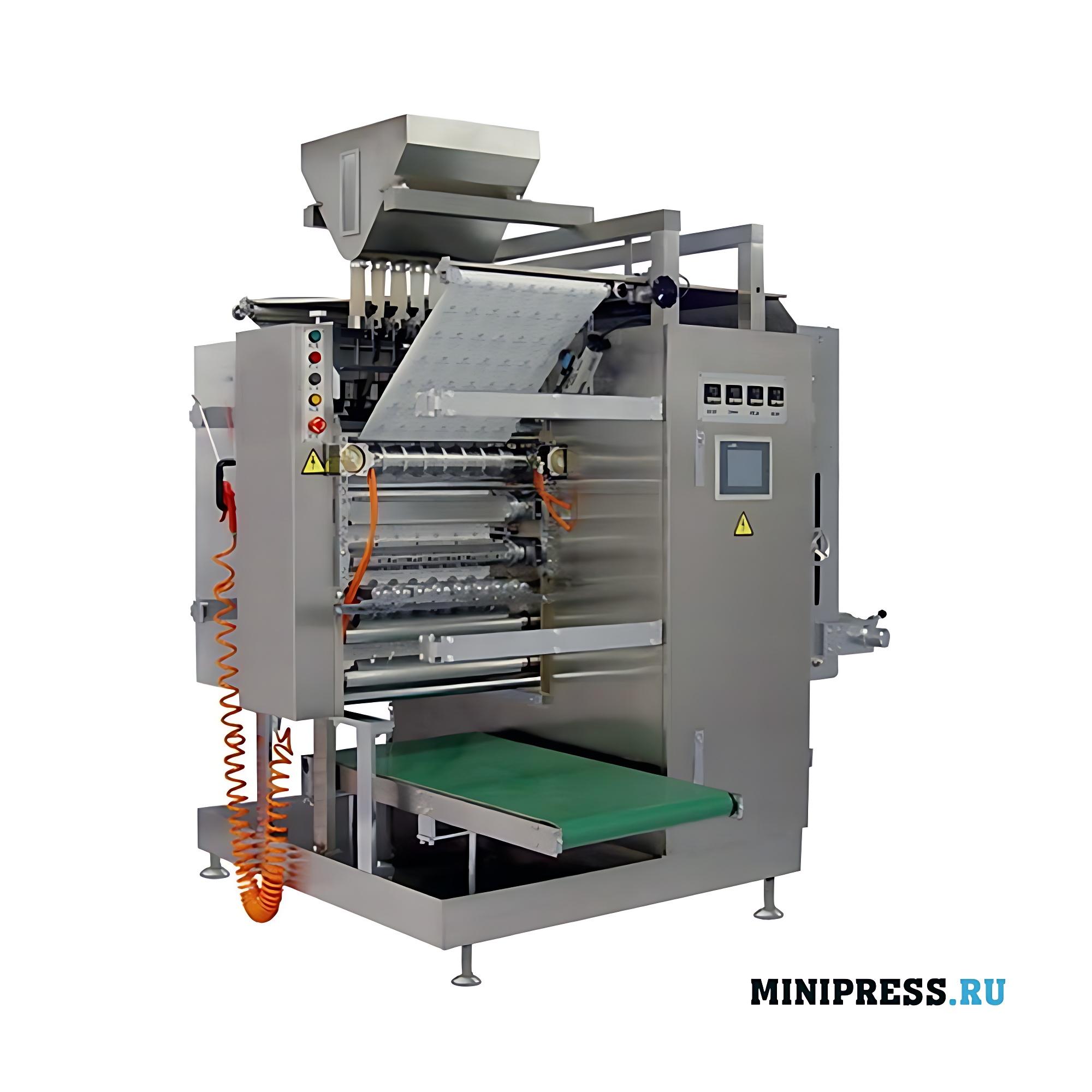 Многоручьевое оборудование для упаковки гранул в пакетики саше