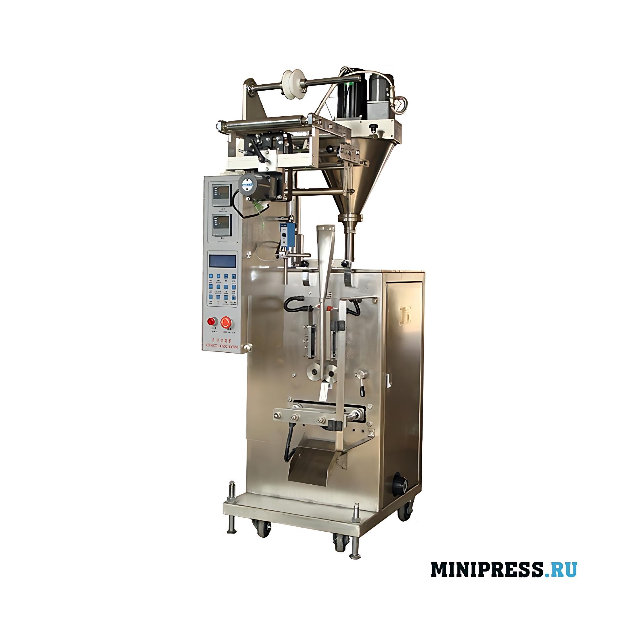 Оборудование для фасовки порошка в пакет типа