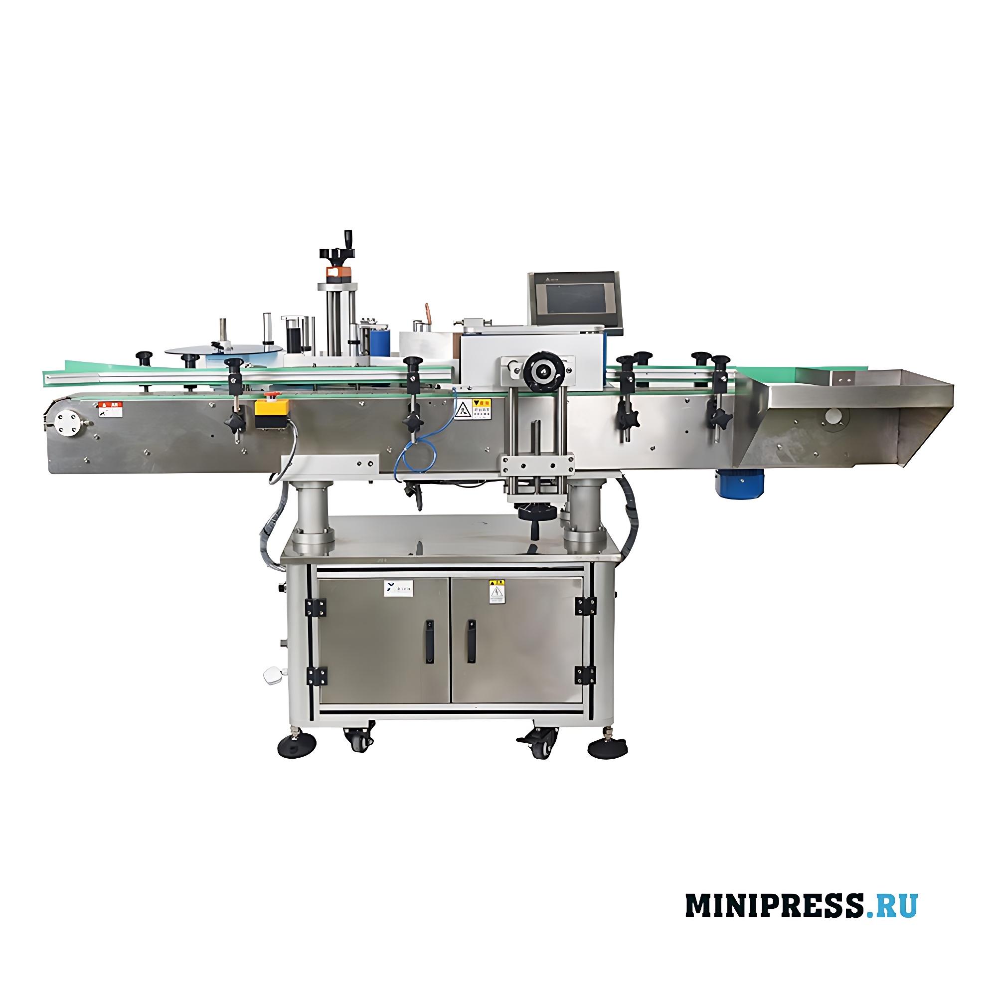 Оборудование для горизонтального этикетирования бутылочек