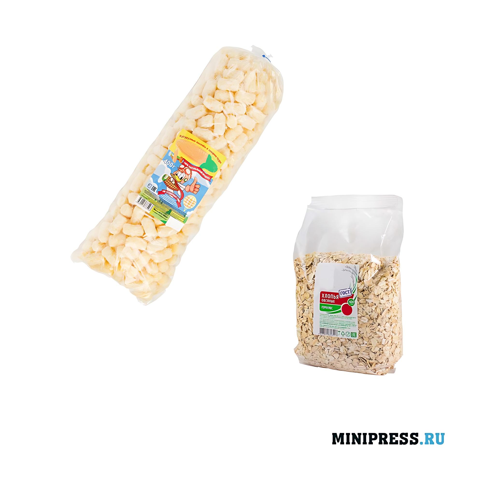 Упаковка хрустящих воздушных продуктов питания