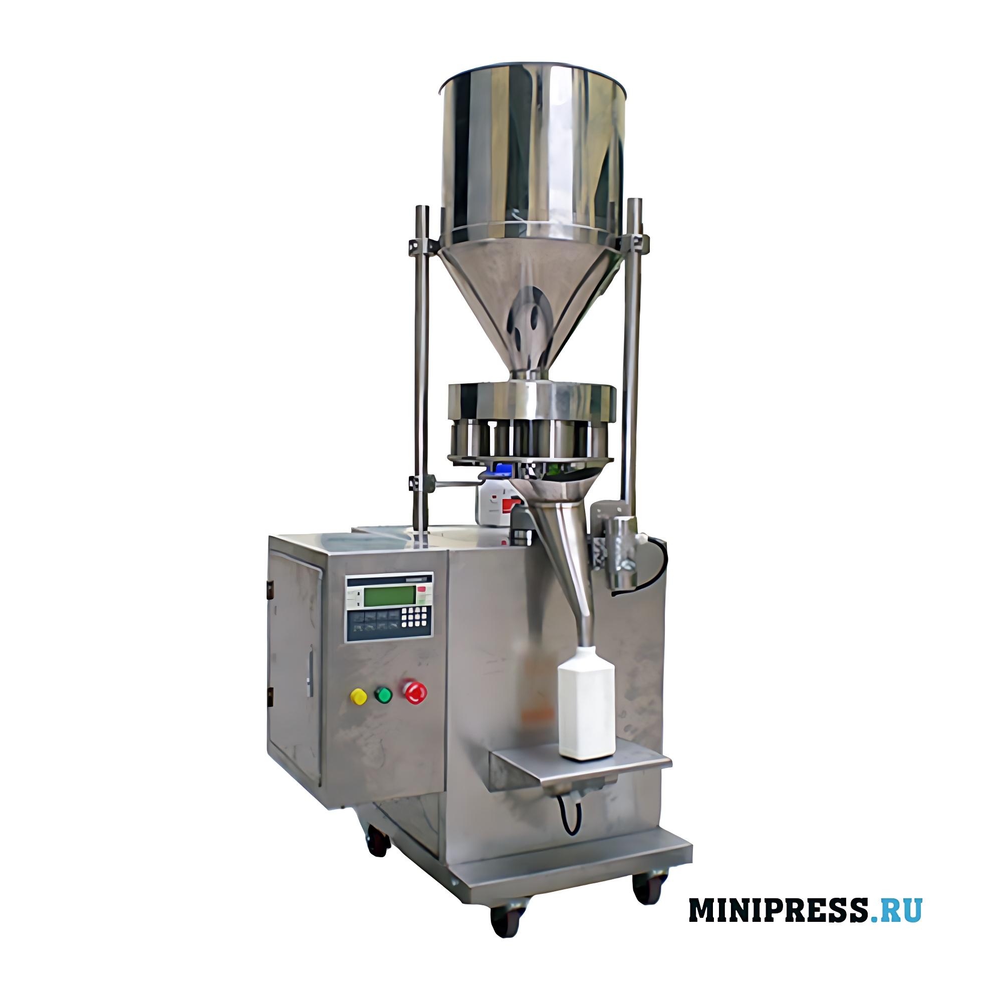 Полуавтоматическое фасовочное оборудование для гранул