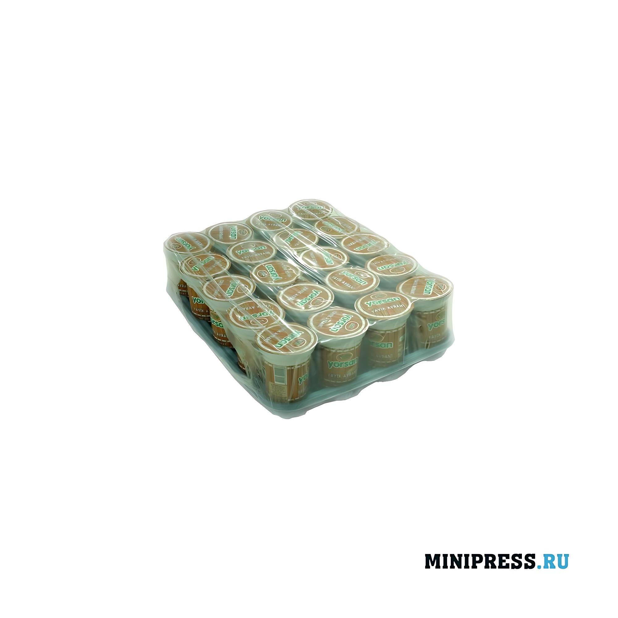 Обертывание упаковок с площадкой (прокладкой)