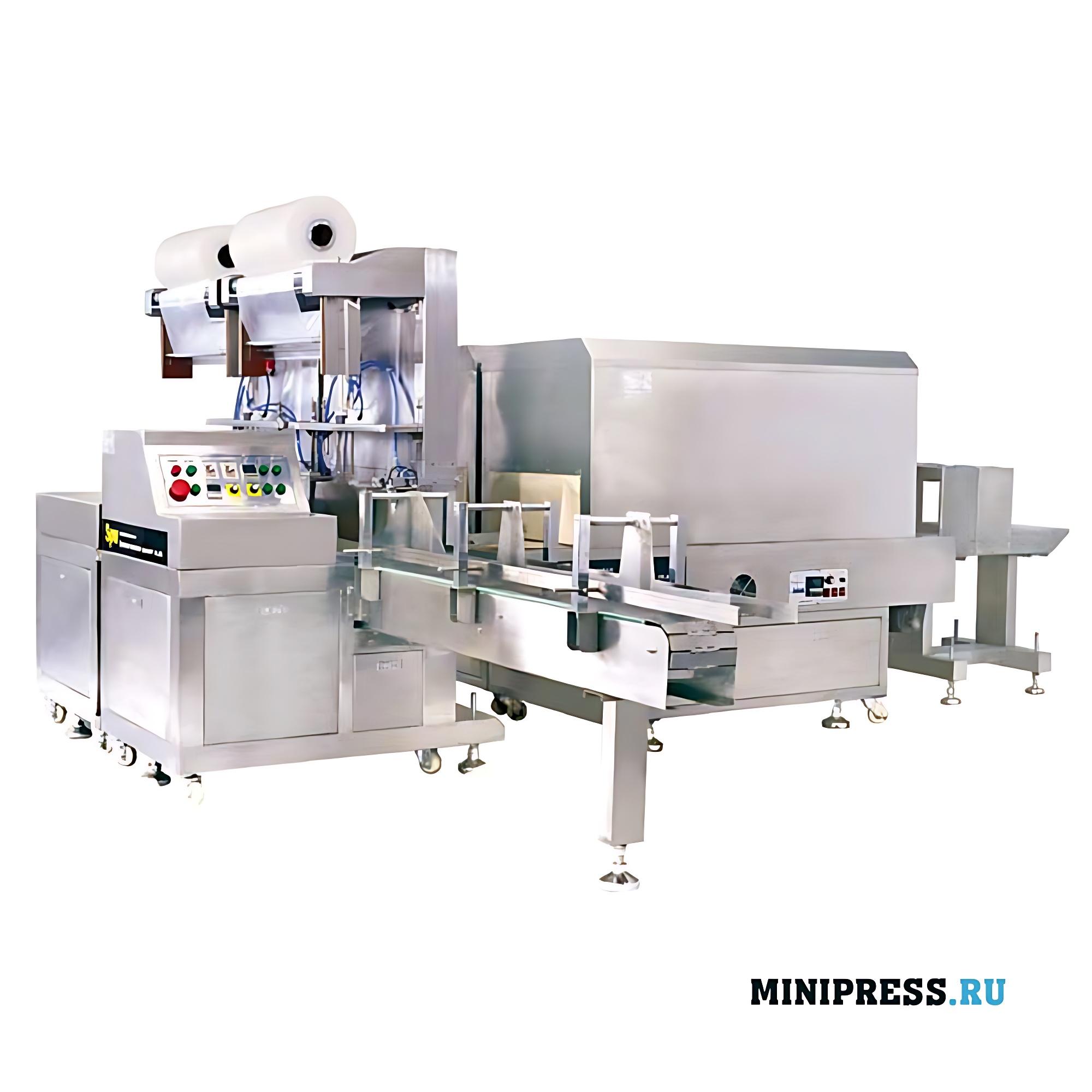 Термоусадочное упаковочное оборудование двойным нажатием