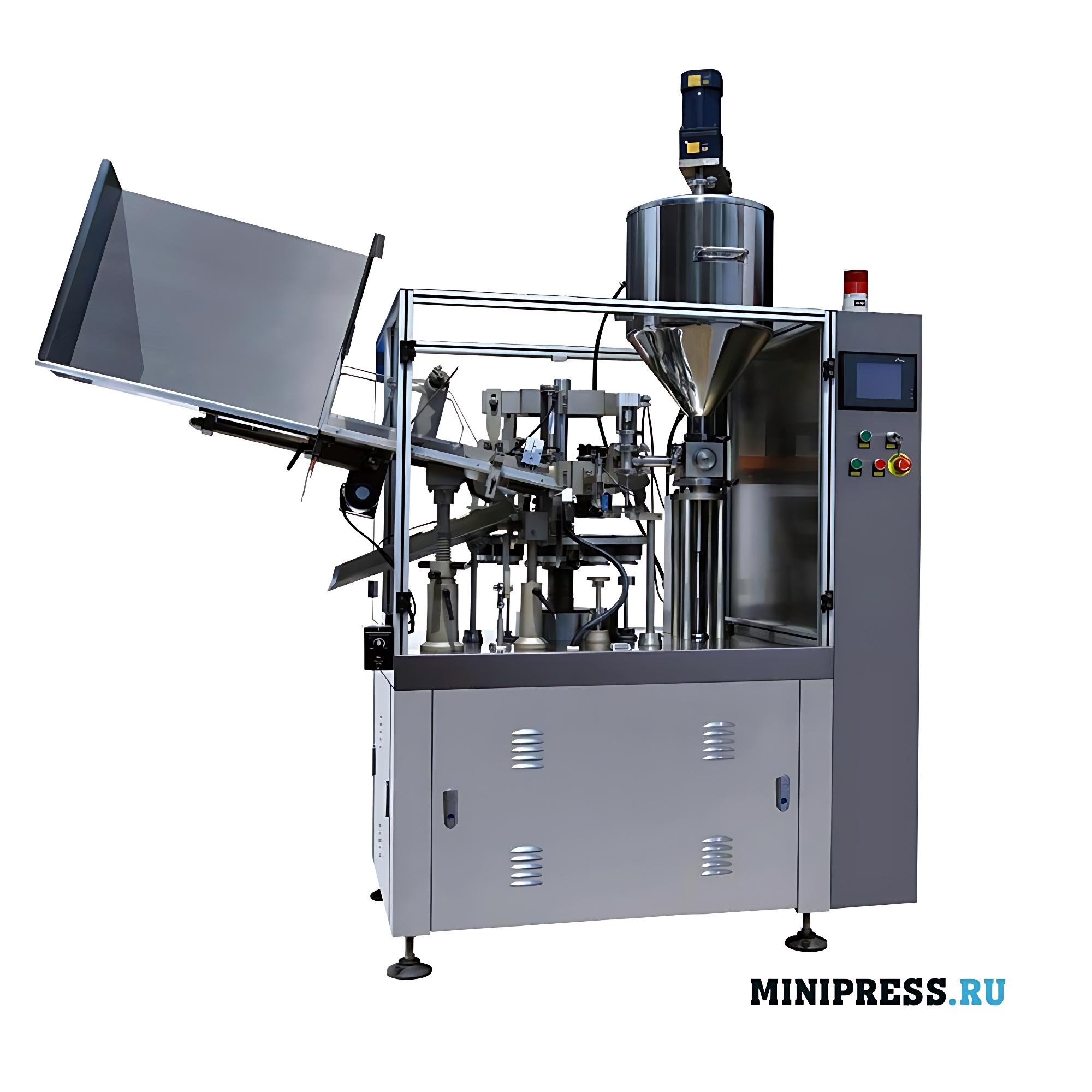 Тубонаполняющая автоматическая машина в алюминиевые и металлические тубы