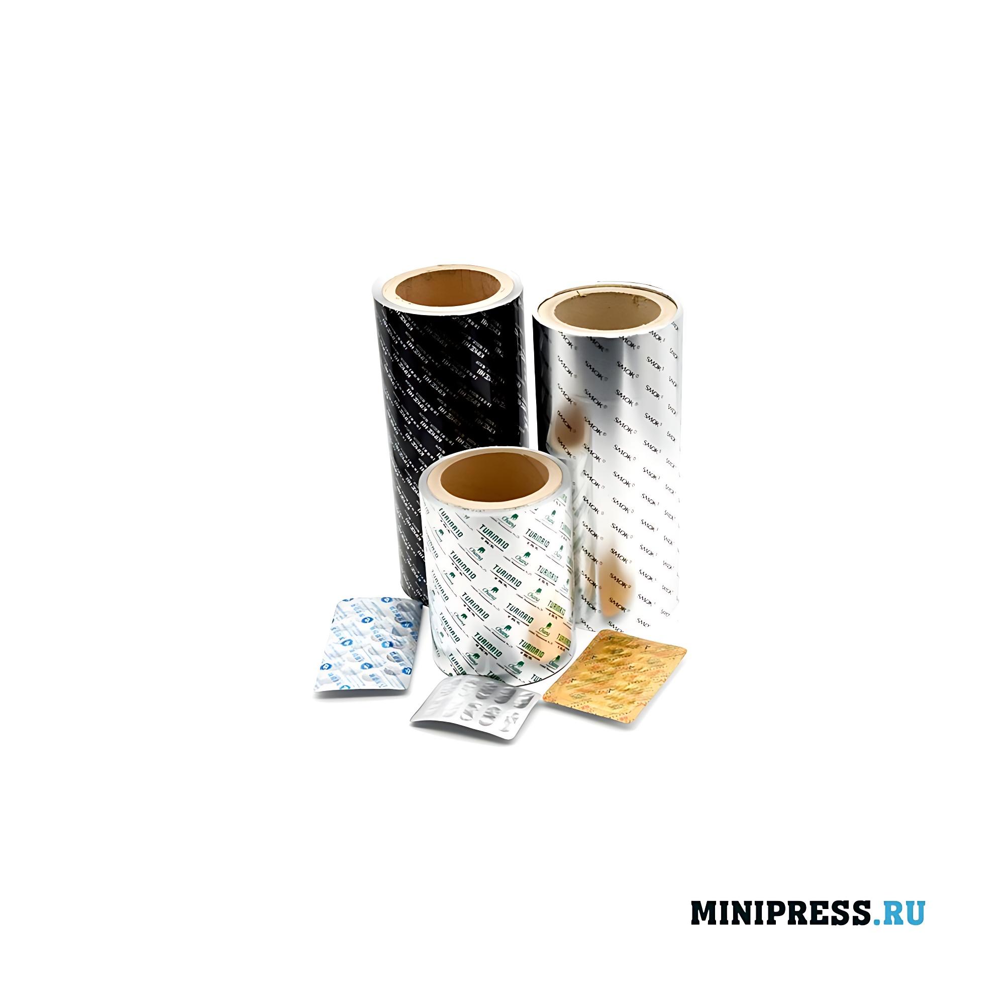 Упаковка таблеток в двойную упаковку из алюминия
