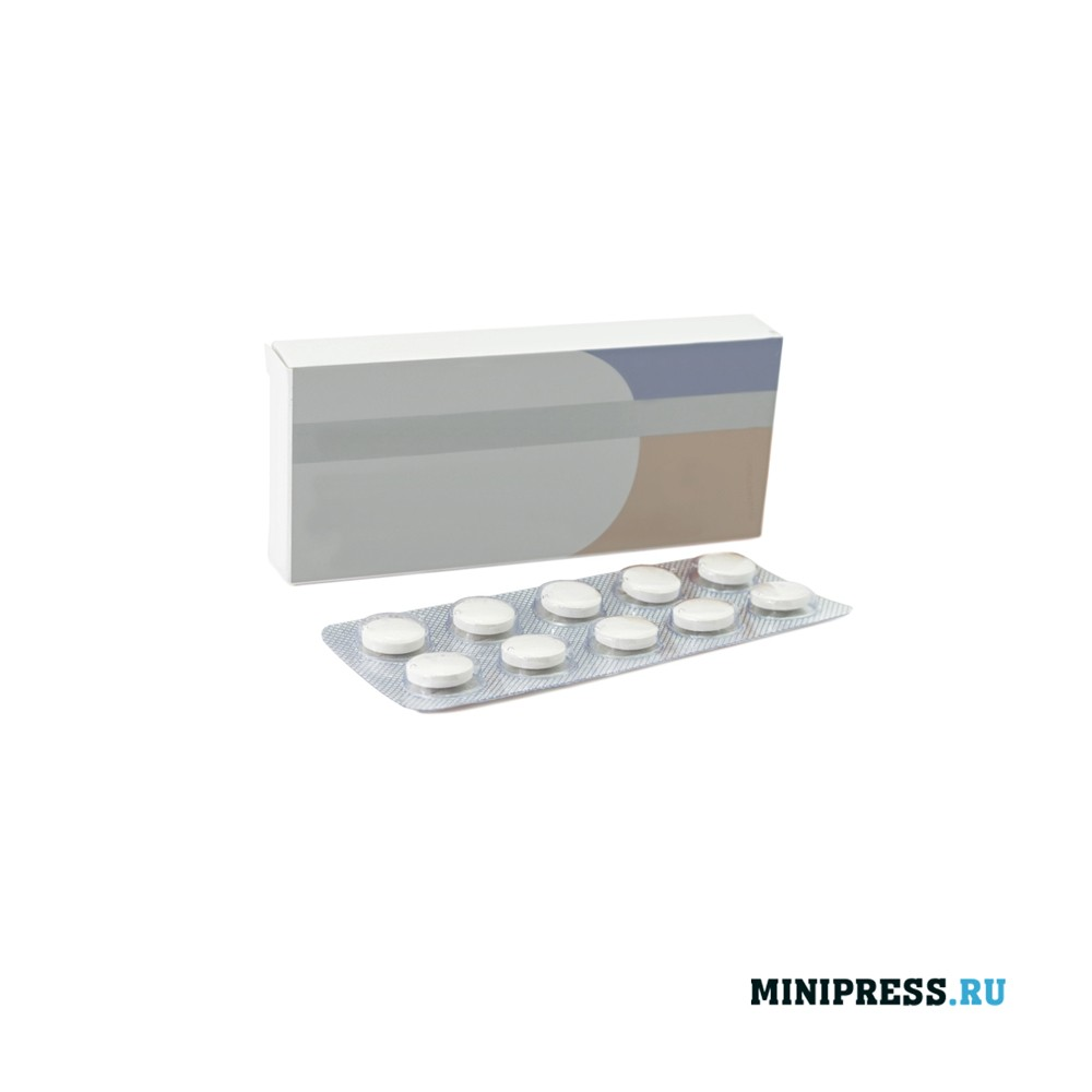 Упакованные блистеры в коробку