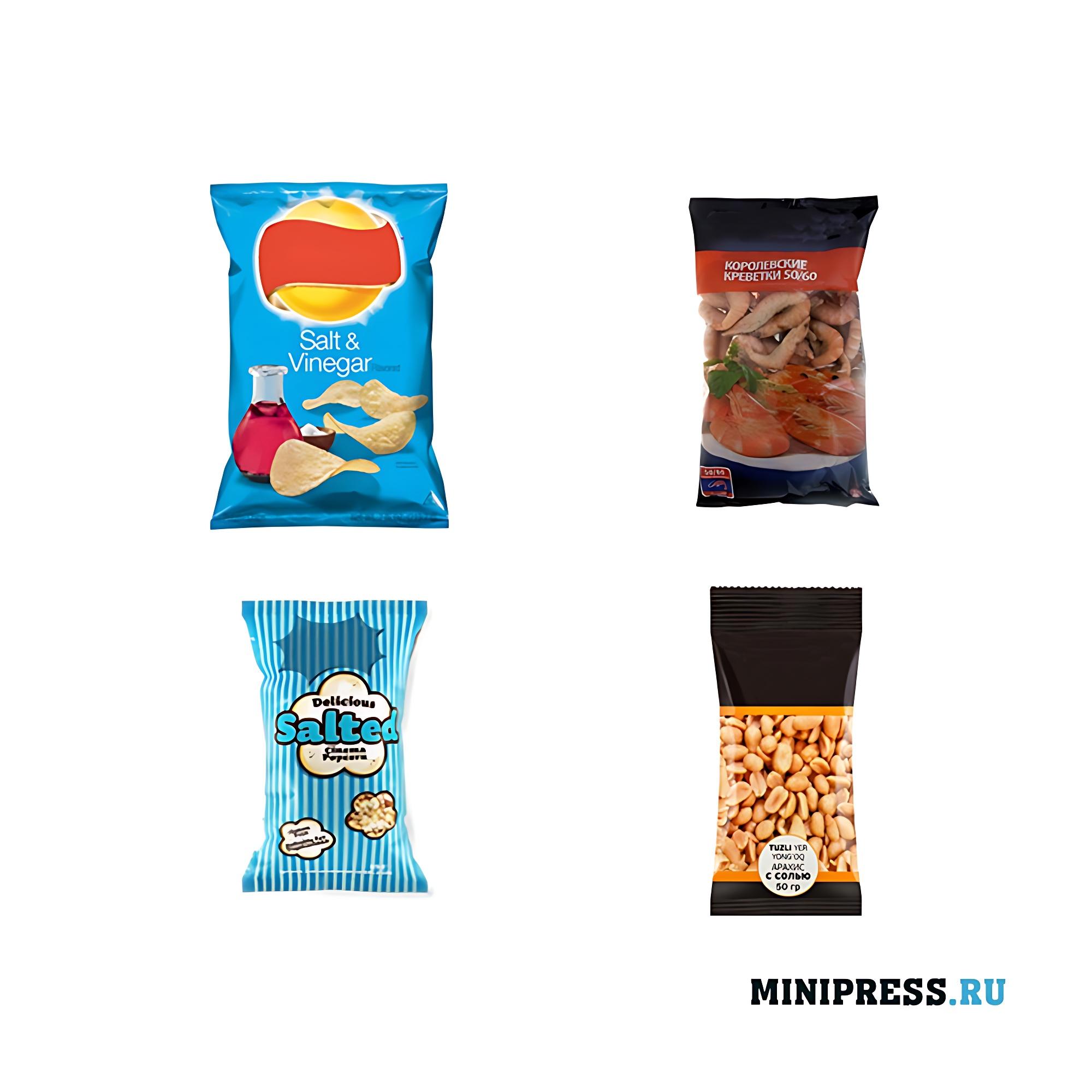 Упакованные пакеты с продуктами