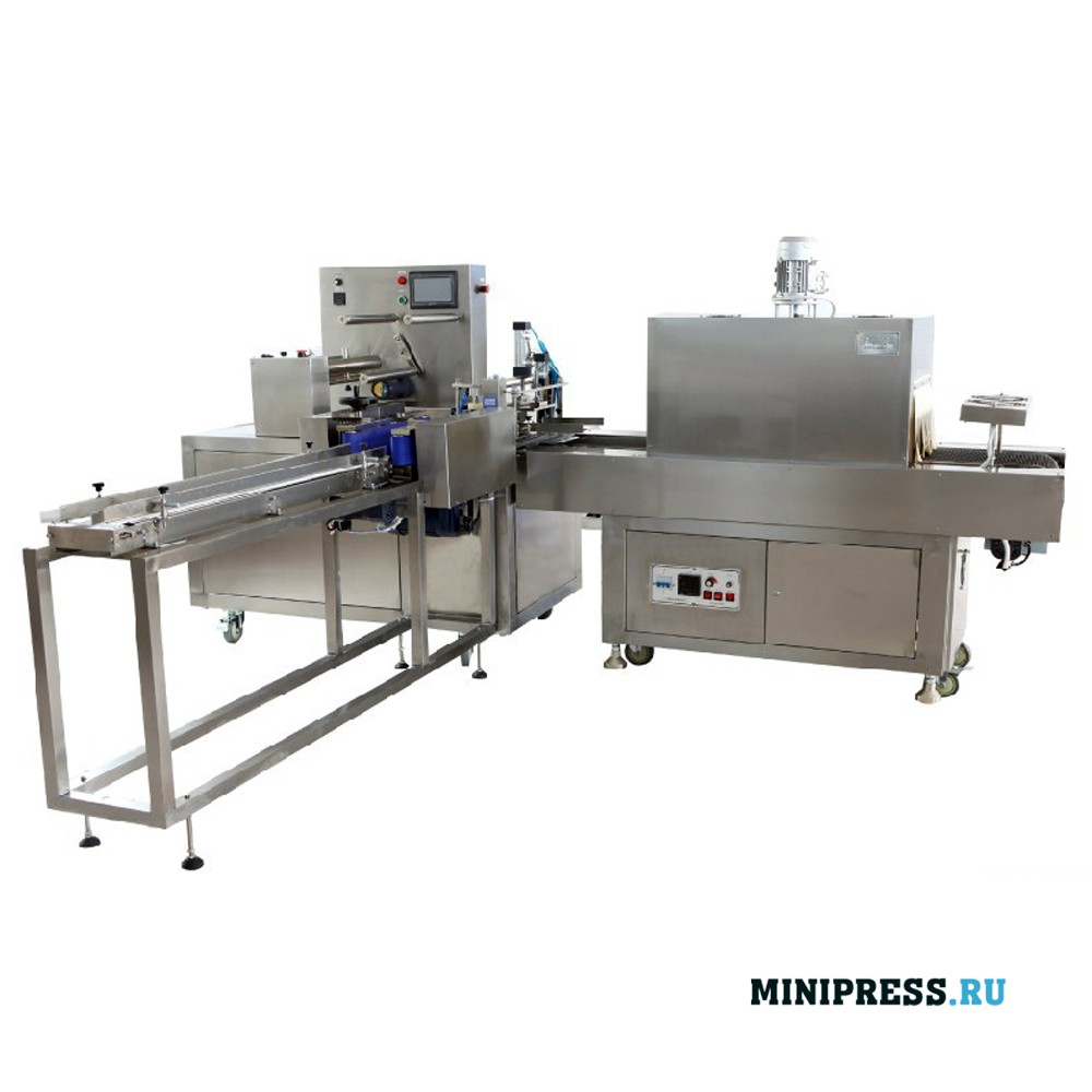 Высокоскоростное оборудование для упаковки в термоусадочную пленку с запайкой и обрезкой