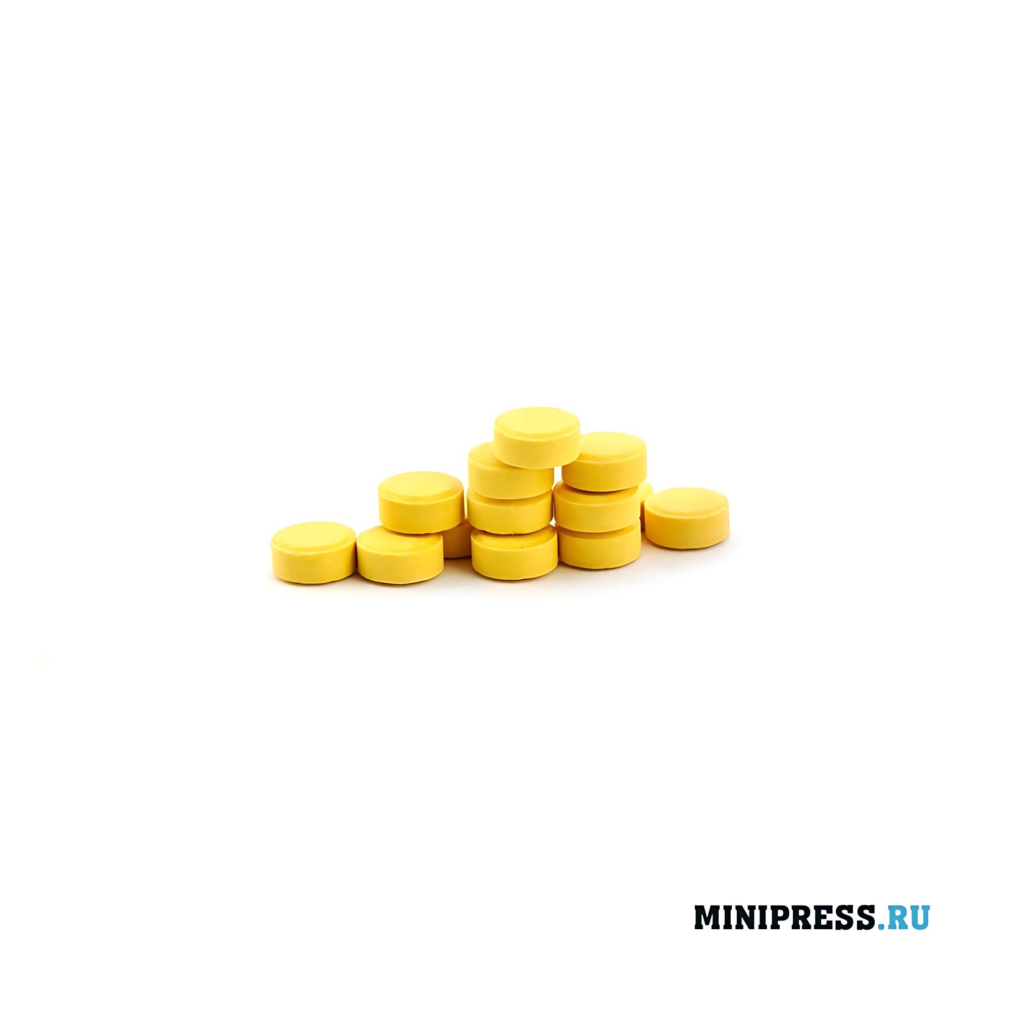 Прессованные гранулы в таблетках