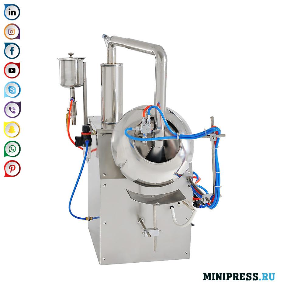 고분자 재료로 만든 껍질로 당의정 및 코팅 정제 제조 기계