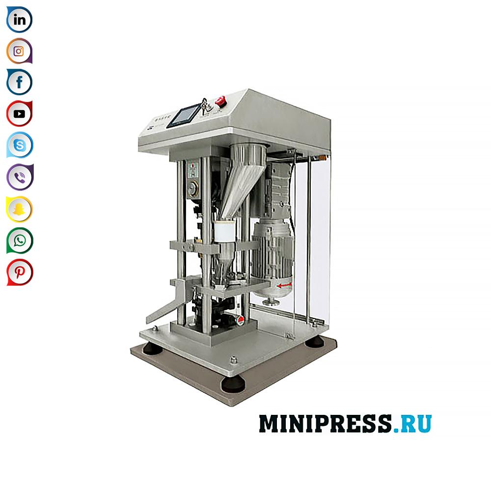 Опрема за пресување таблети со максимален дијаметар од 30 мм